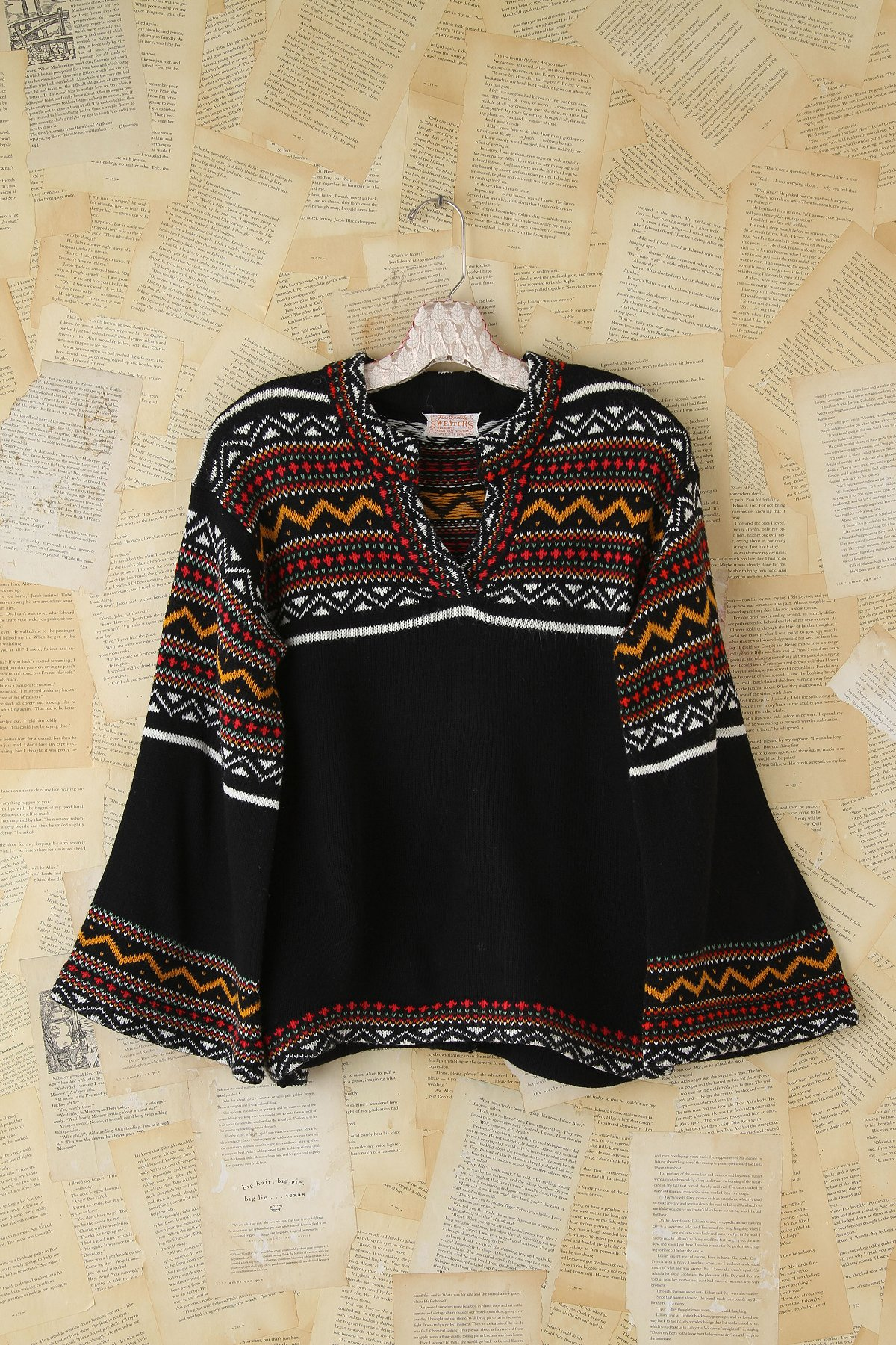 Vintage Patterned Knit Sweater