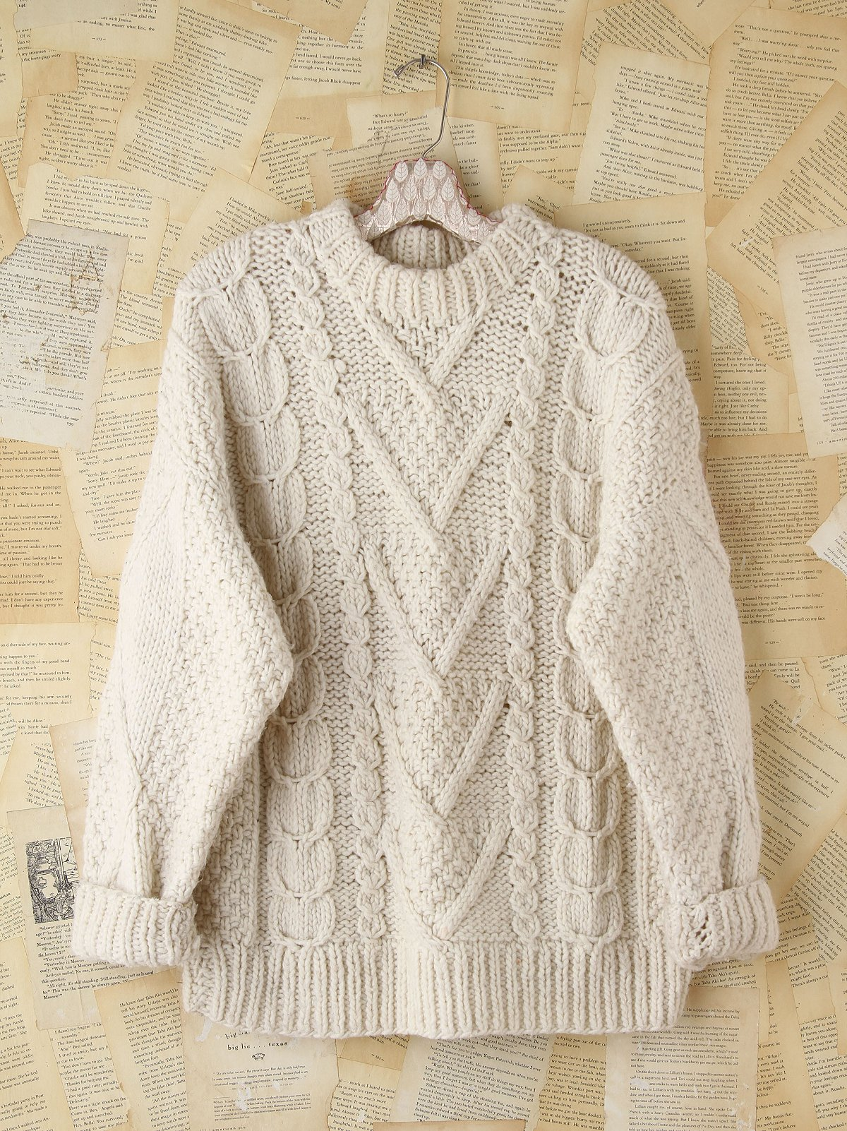 Vintage Cable Knit Pullover