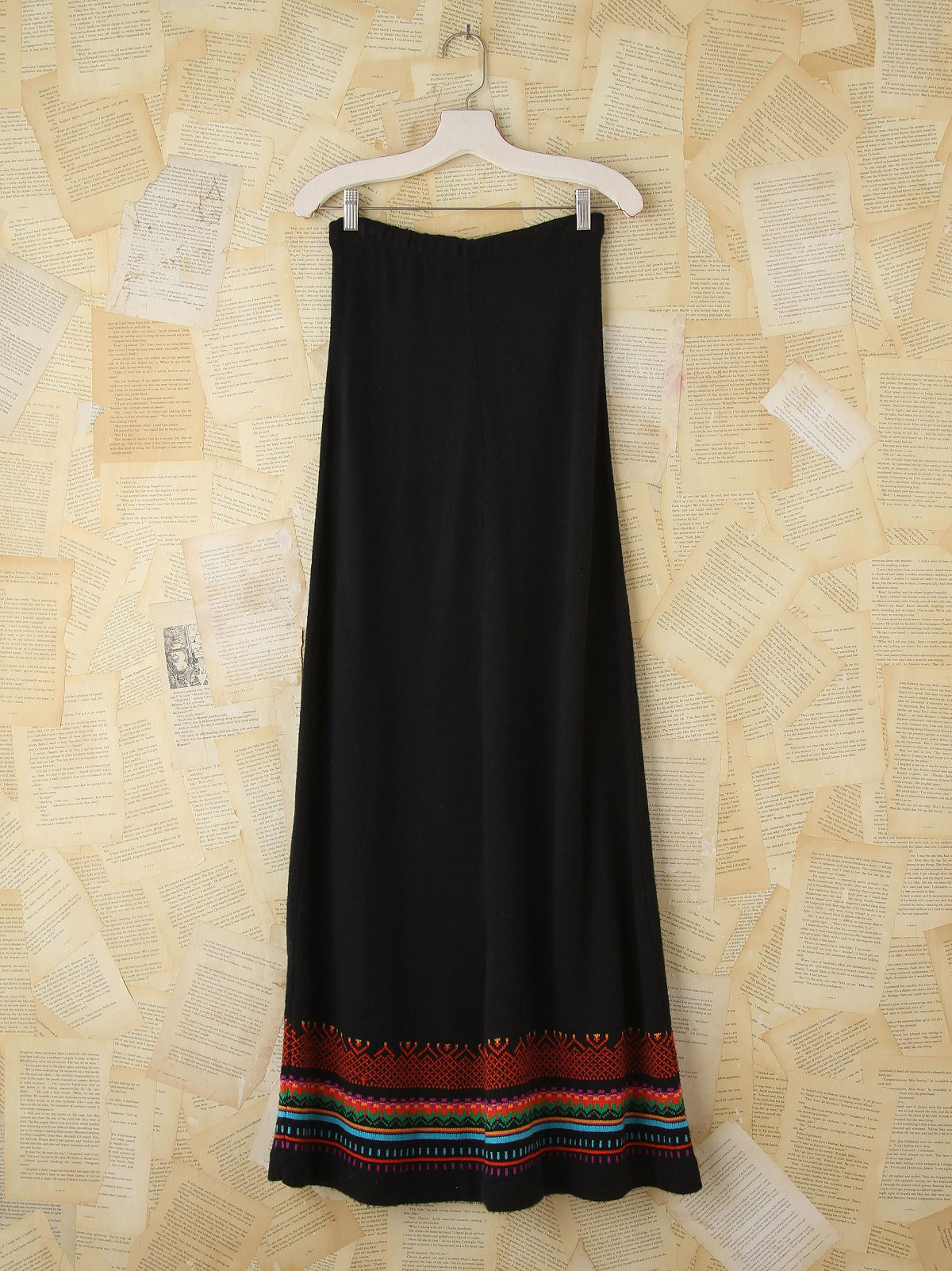 Vintage Stripe Knit Maxi Skirt