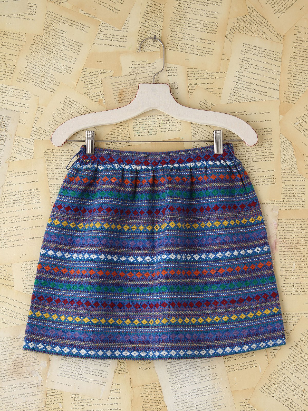 Vintage Woven Striped Mini Skirt