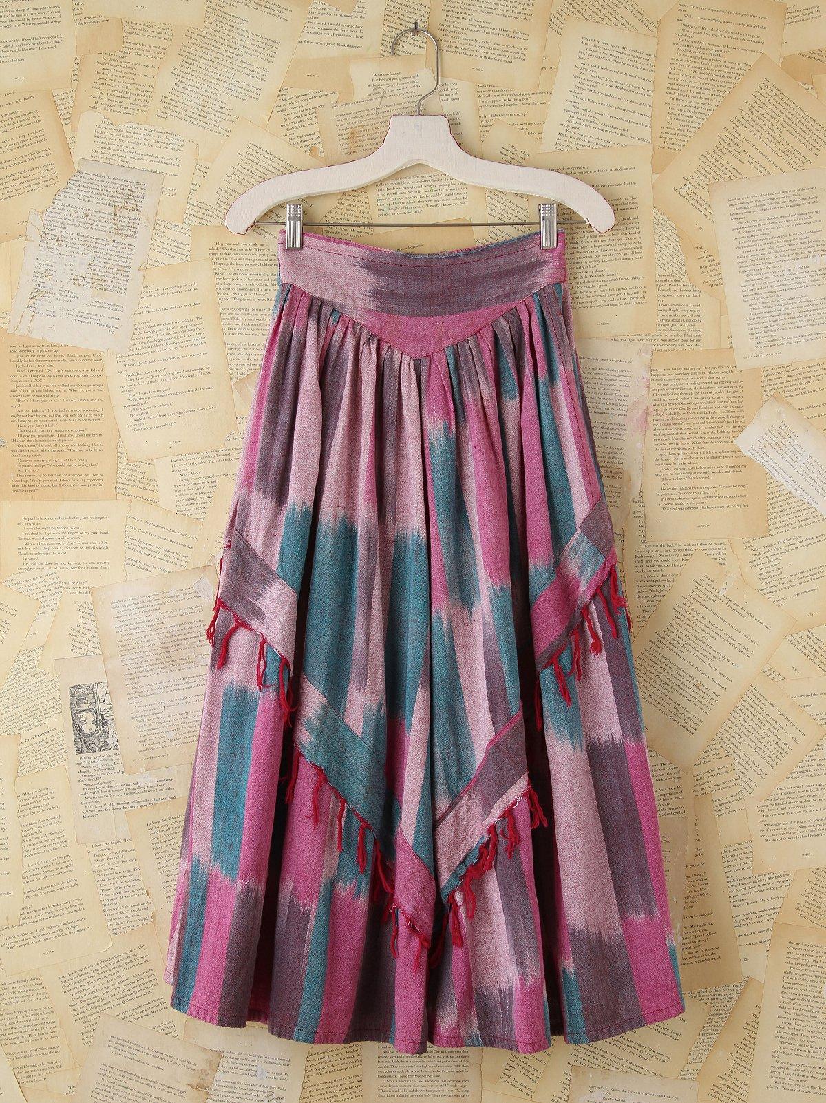Vintage Patterned Woven Skirt