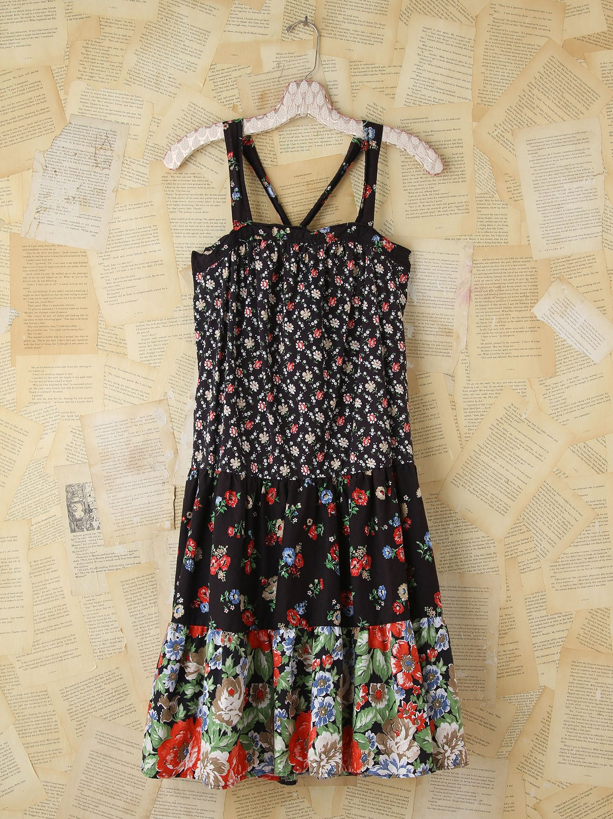 Vintage Pieced Floral Dress