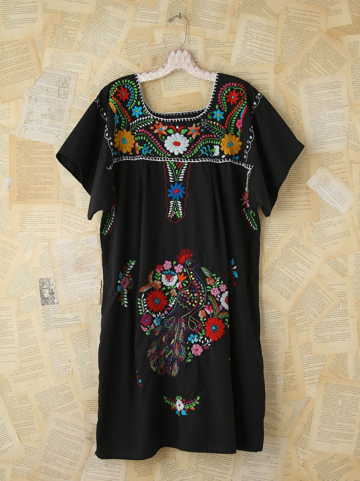 Vintage Floral Embroidered Dress