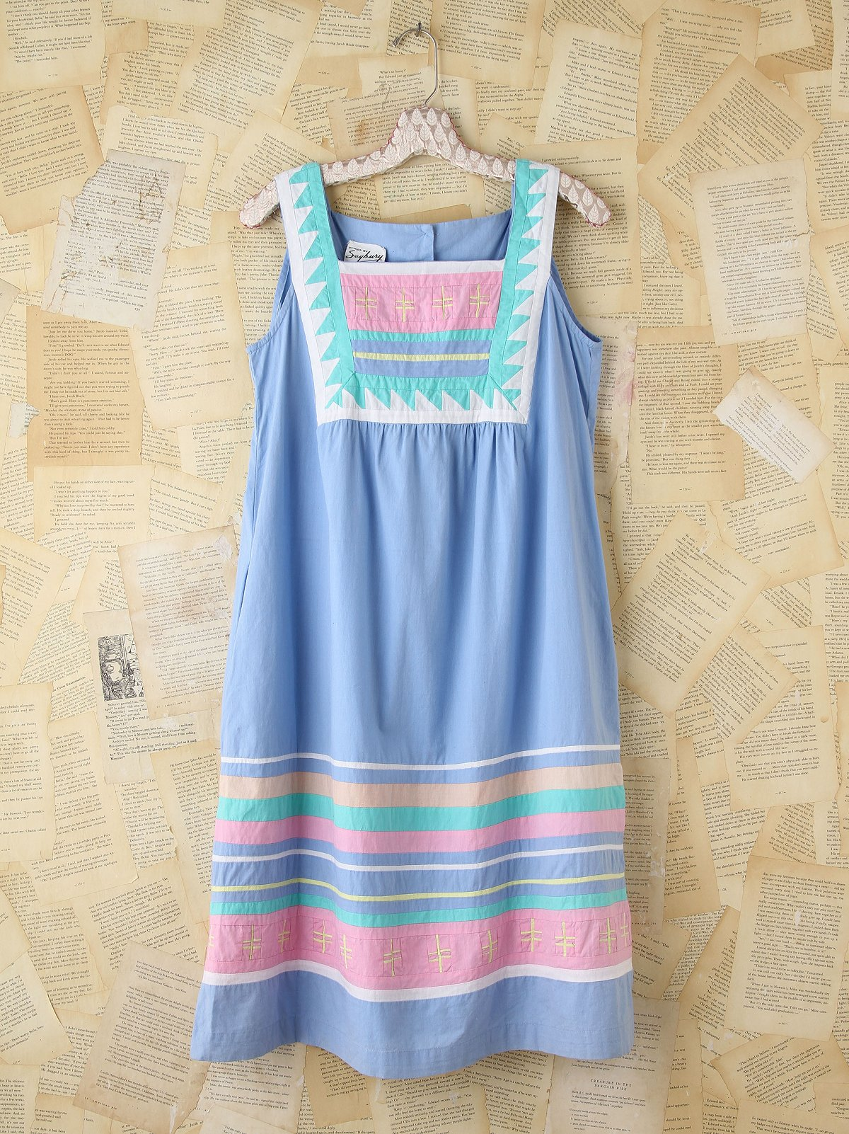 Vintage Pastel Sleeveless Dress