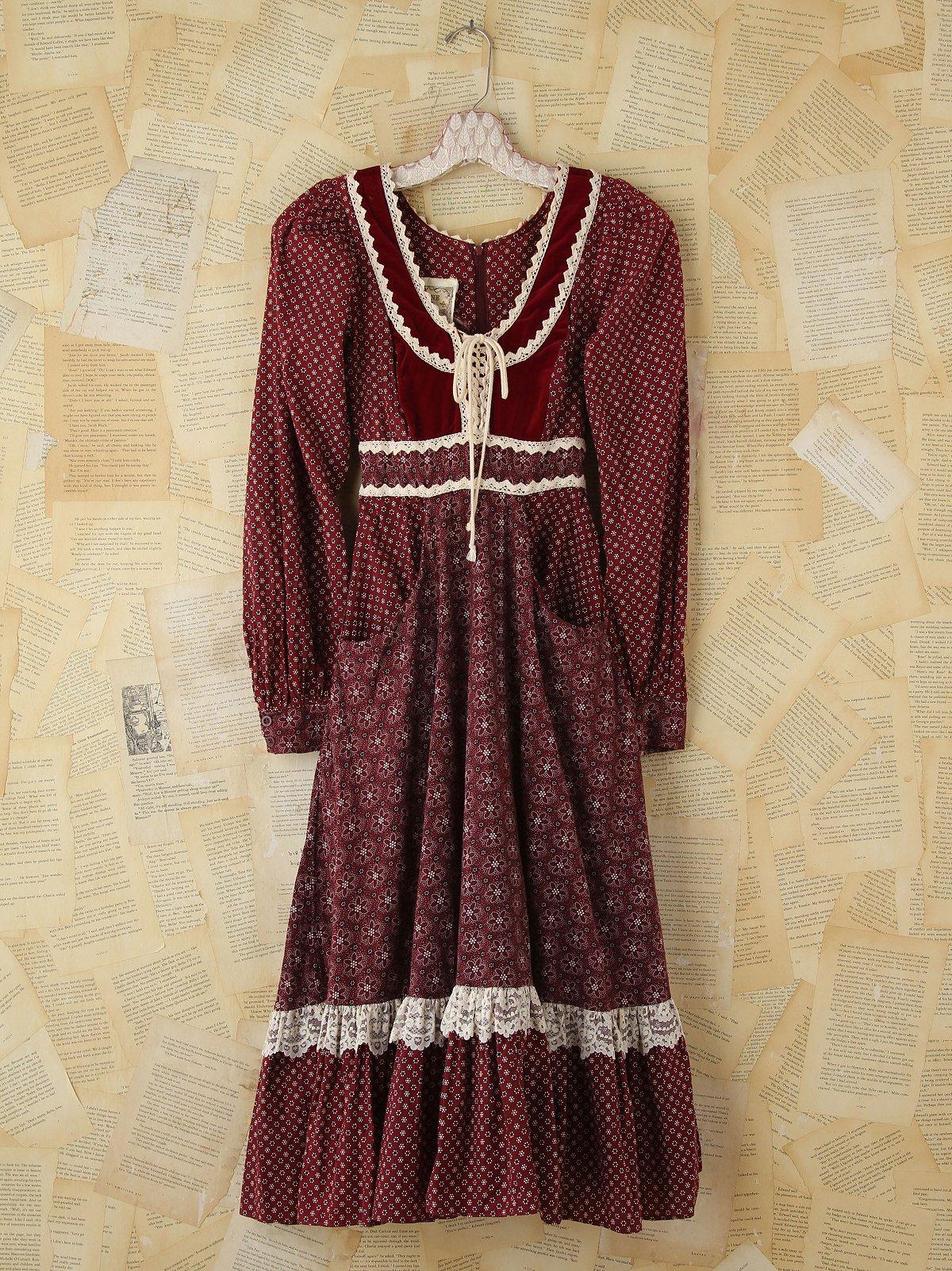 Vintage Flower Child Gunne Sax Dress