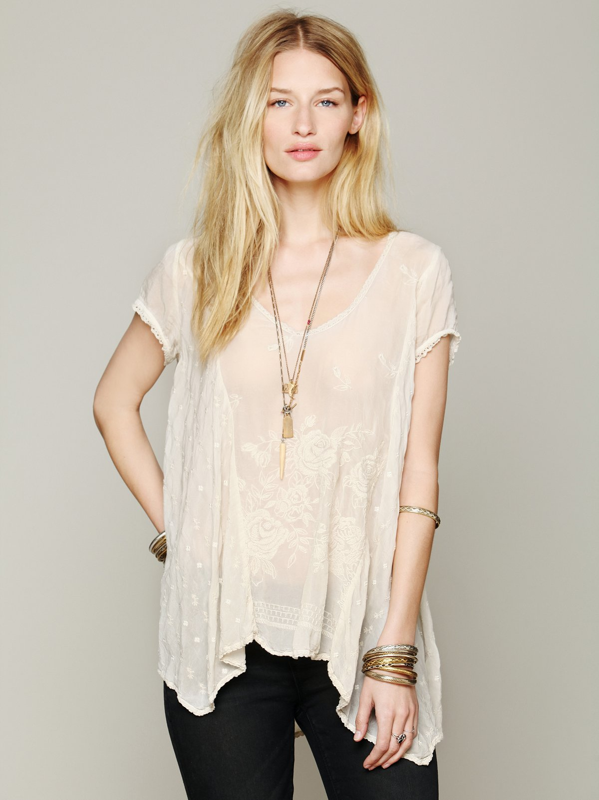 Embroidered Confections Top