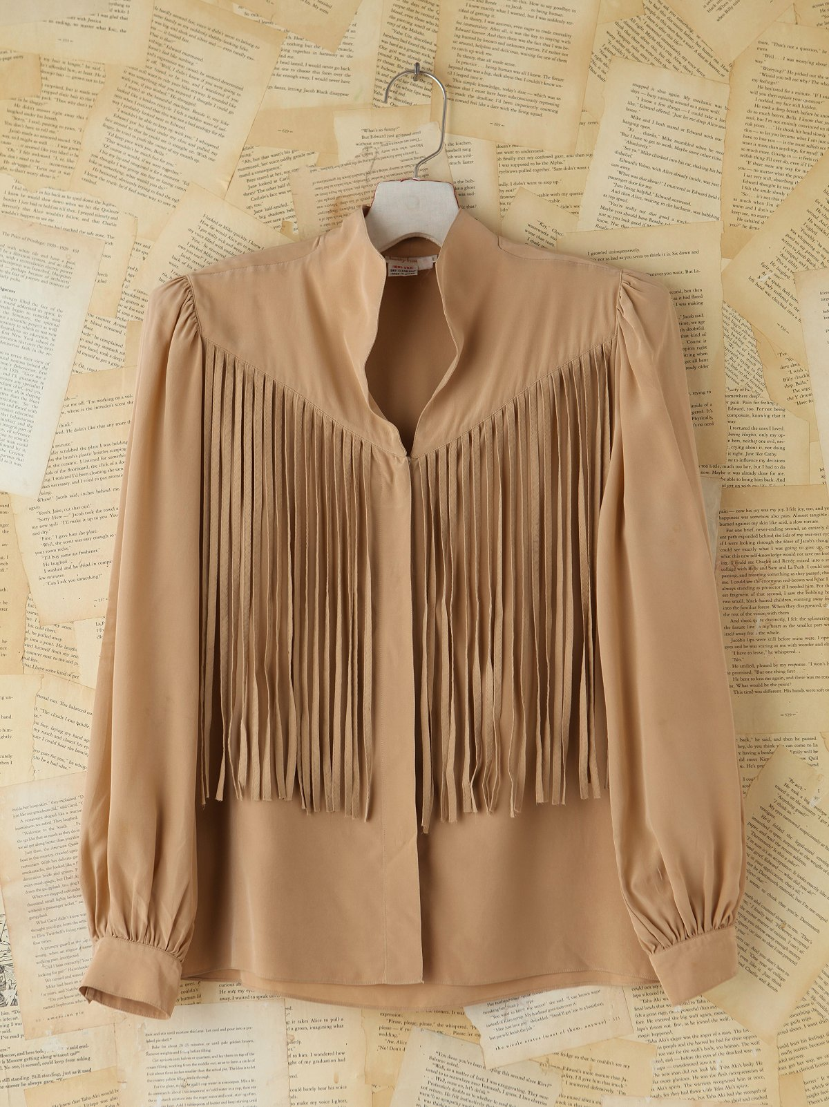 Vintage Silk Fringe Buttondown