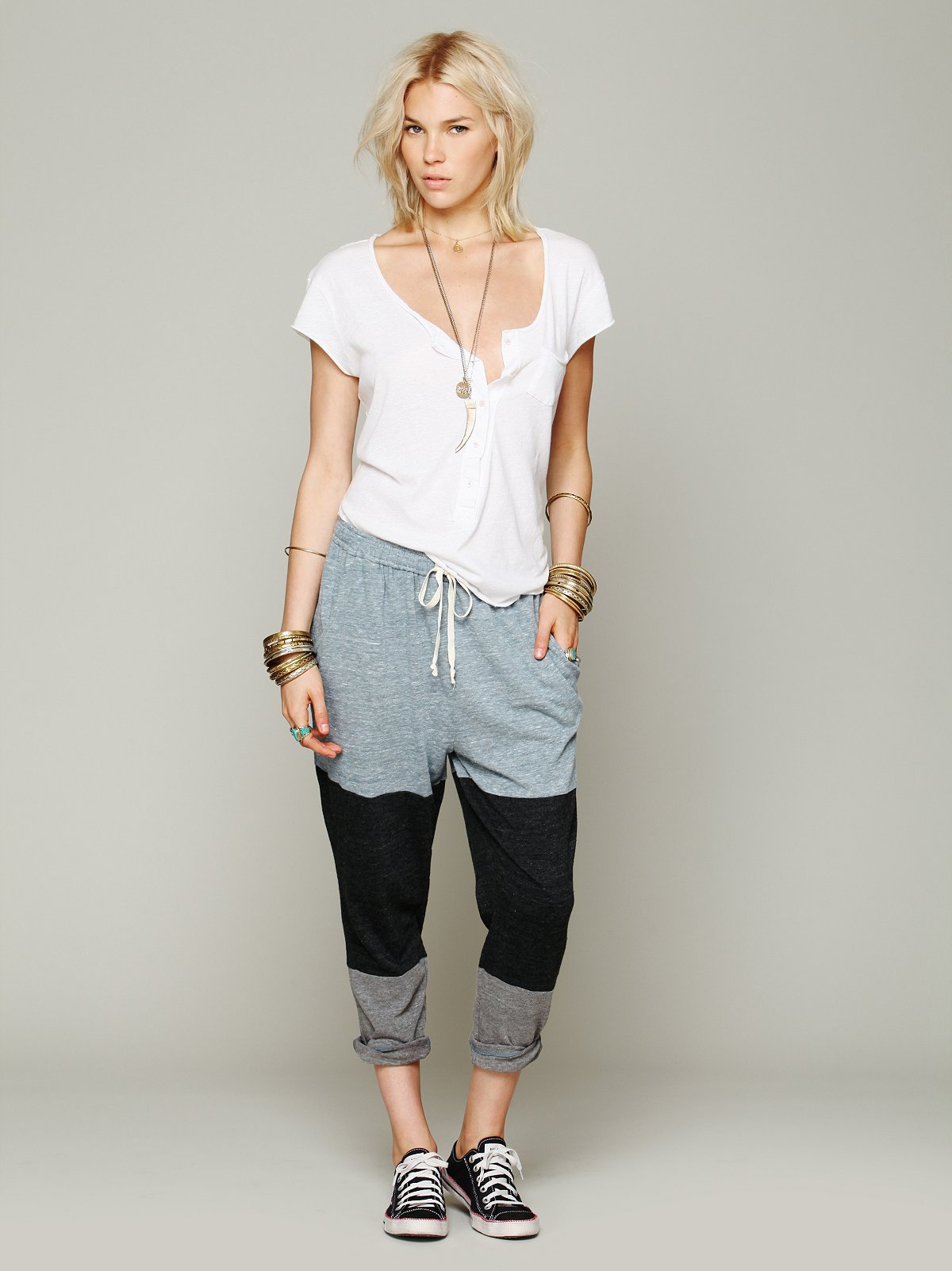 Colorblocked Wing Pant