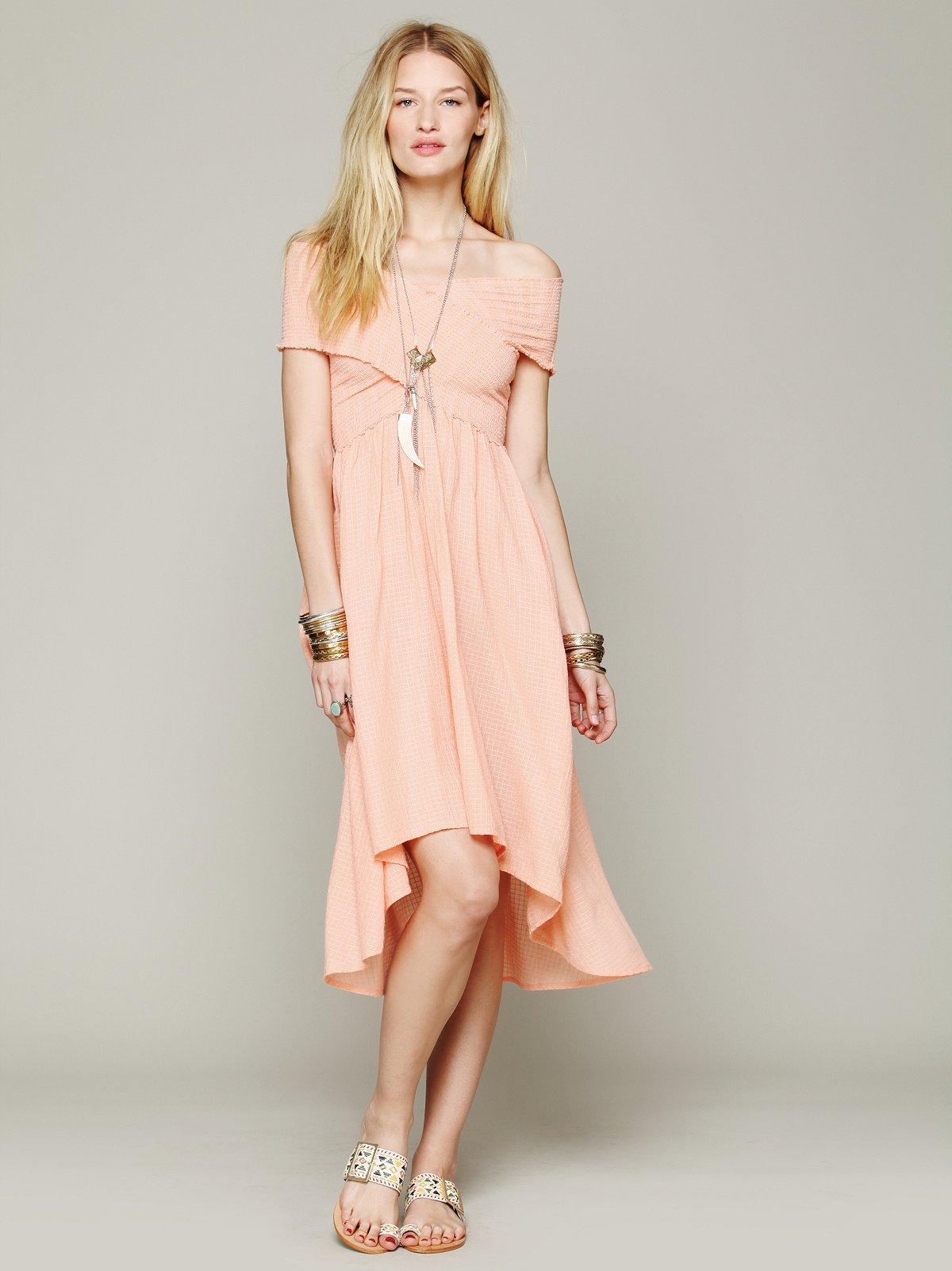 Smocked Hi-Low Dress