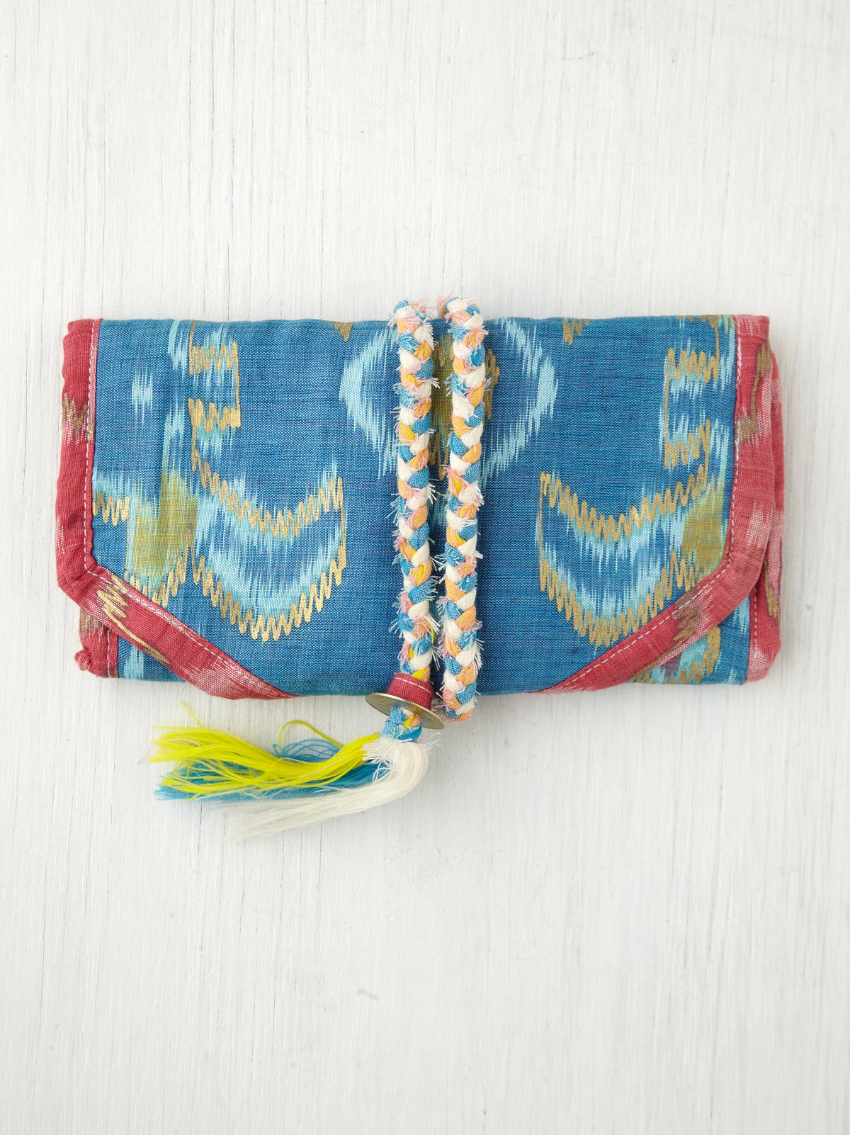 Ikat Jewelry Roll