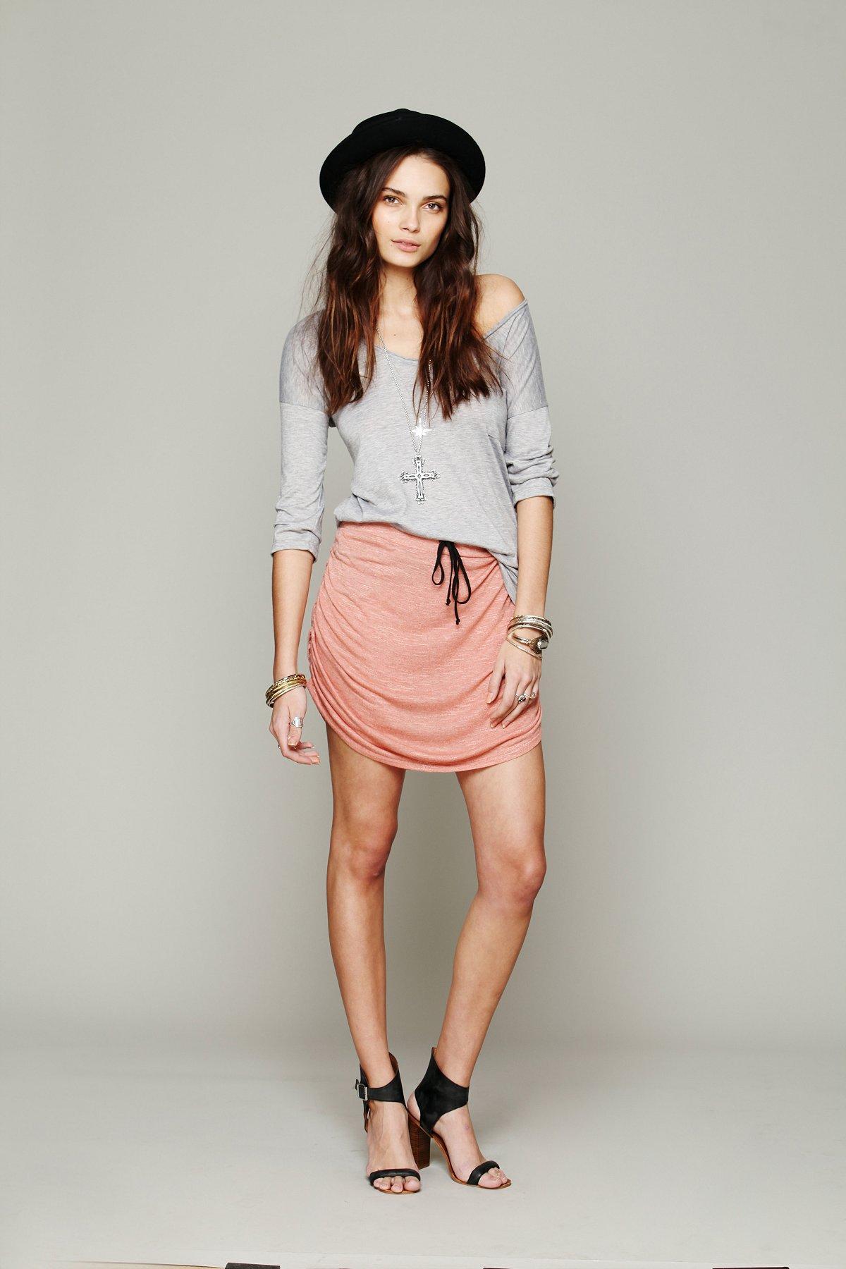 Lily Mini Shirred Skirt