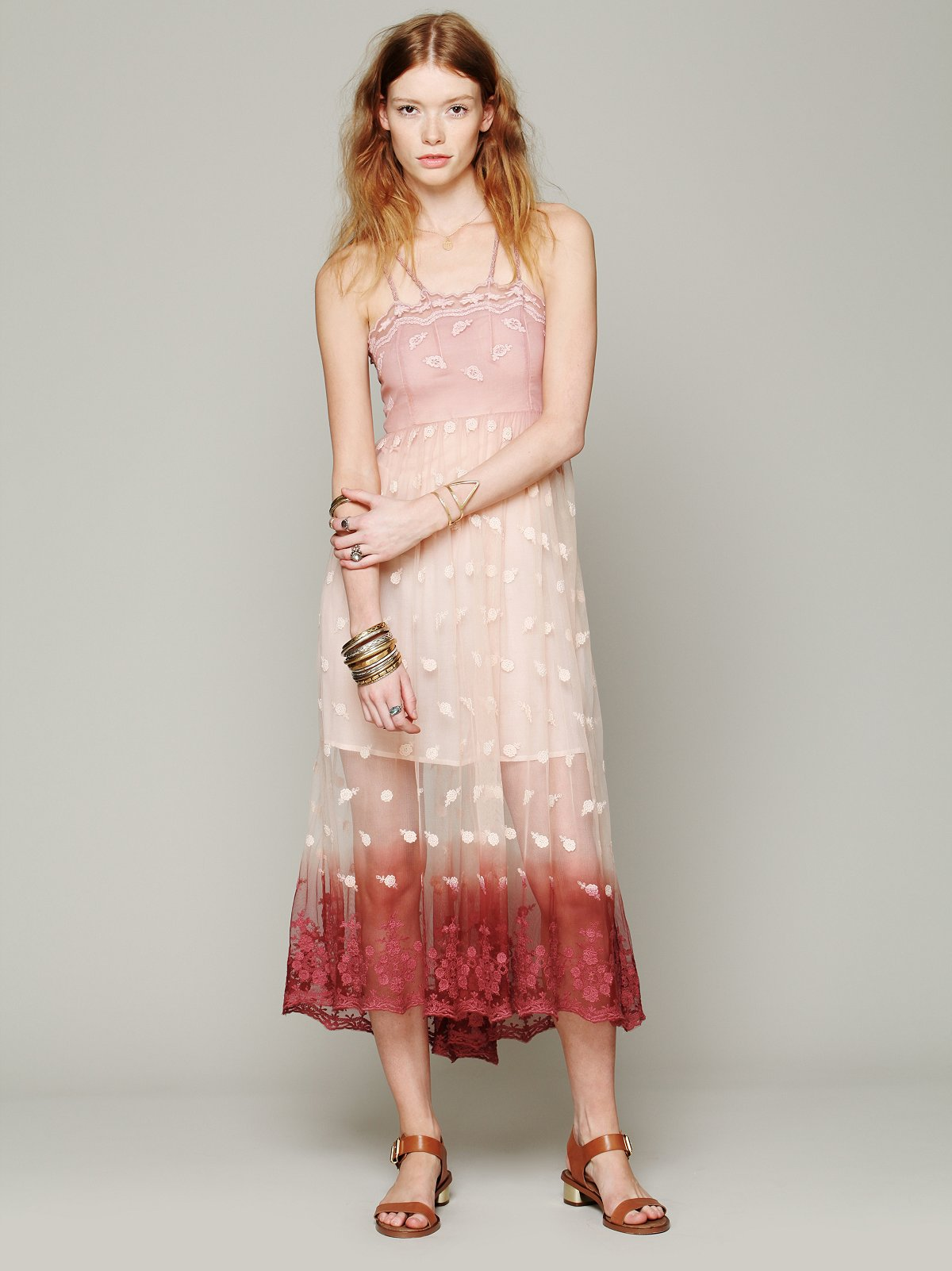 Tralala Embroidered Mesh Maxi