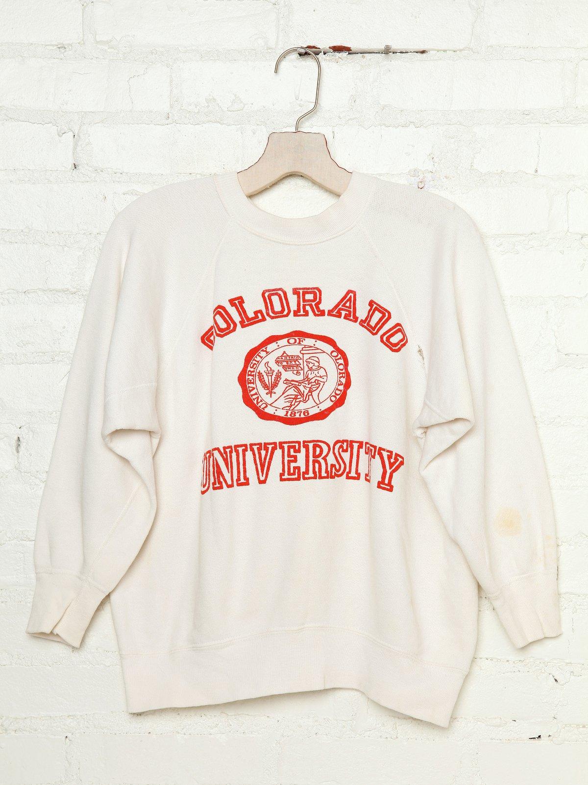 Vintage 1960s Colorado University Sweatshirt