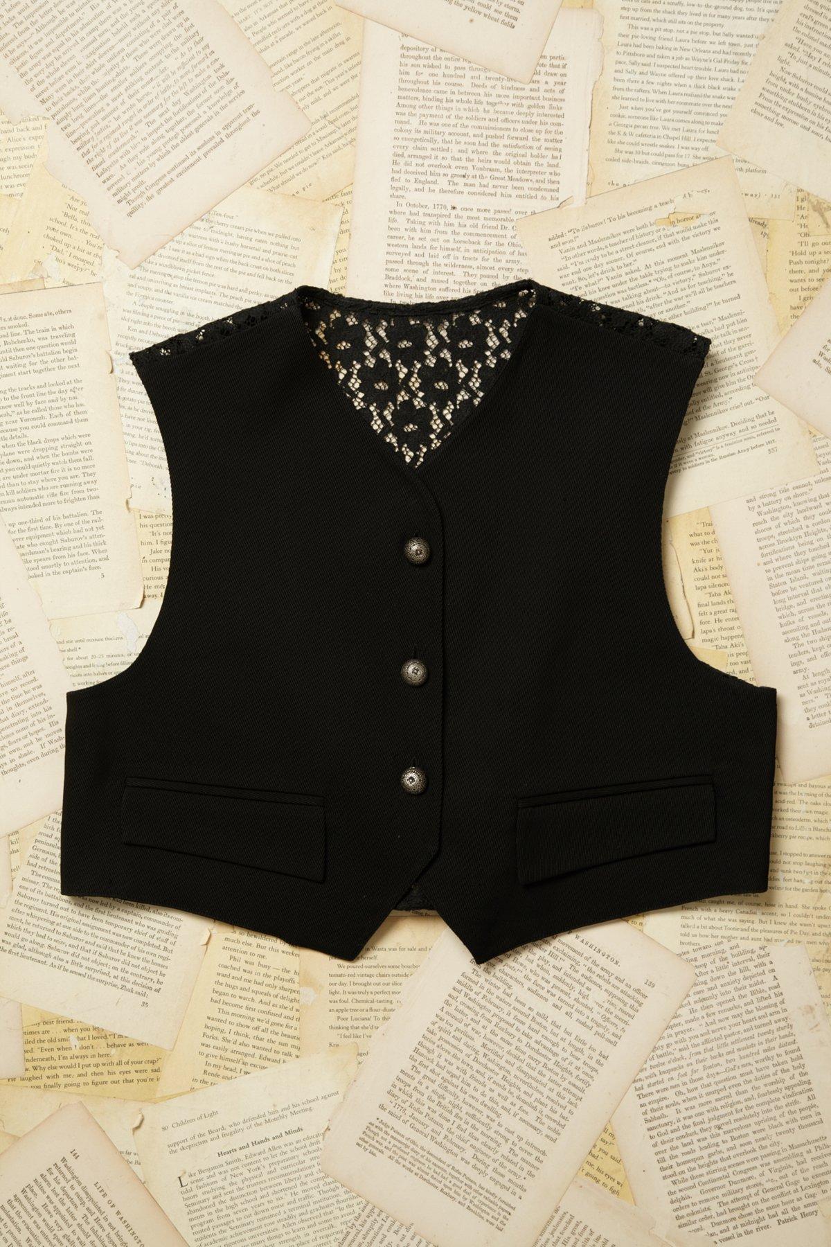 Vintage Lace Back Vest