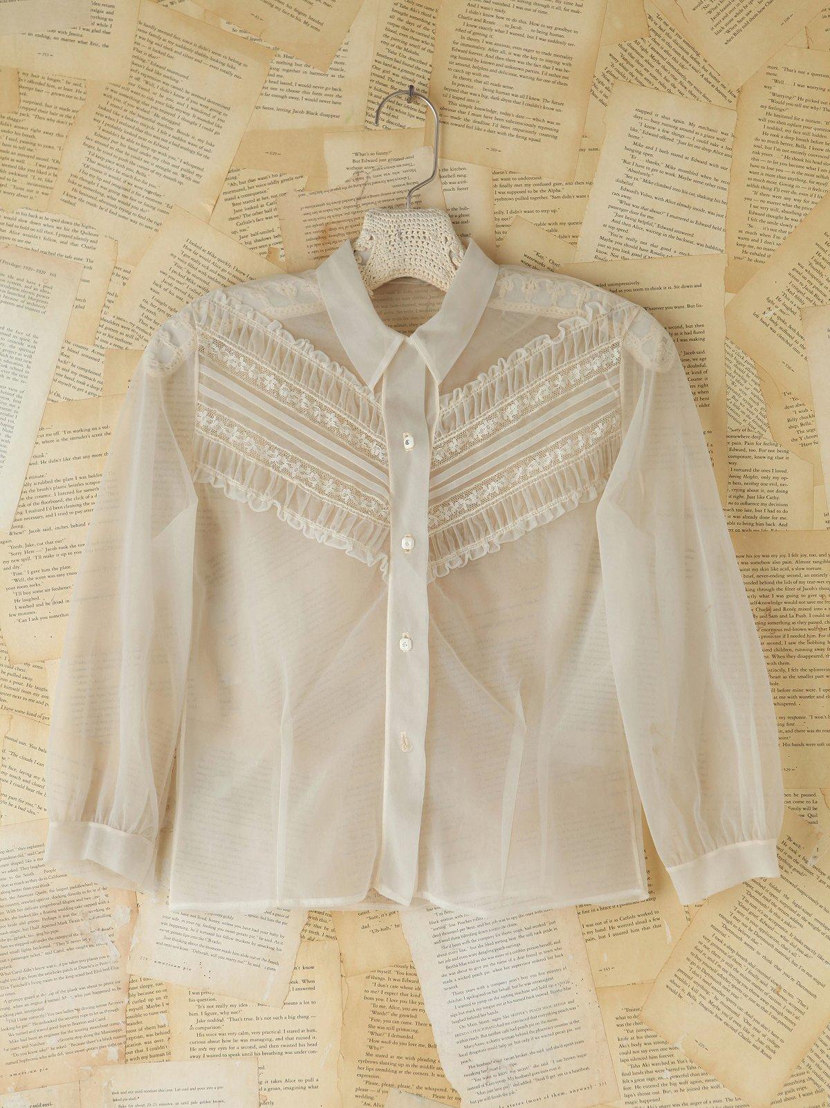 Vintage Sheer Victorian Blouse