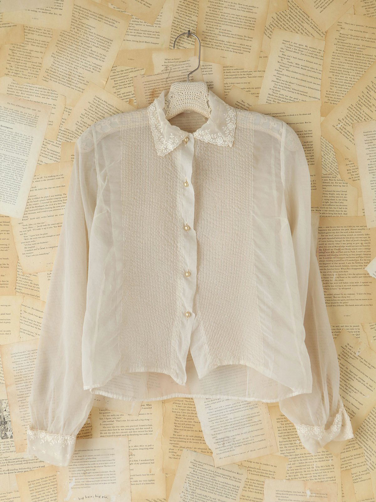 Vintage Sheer Buttonfront Blouse