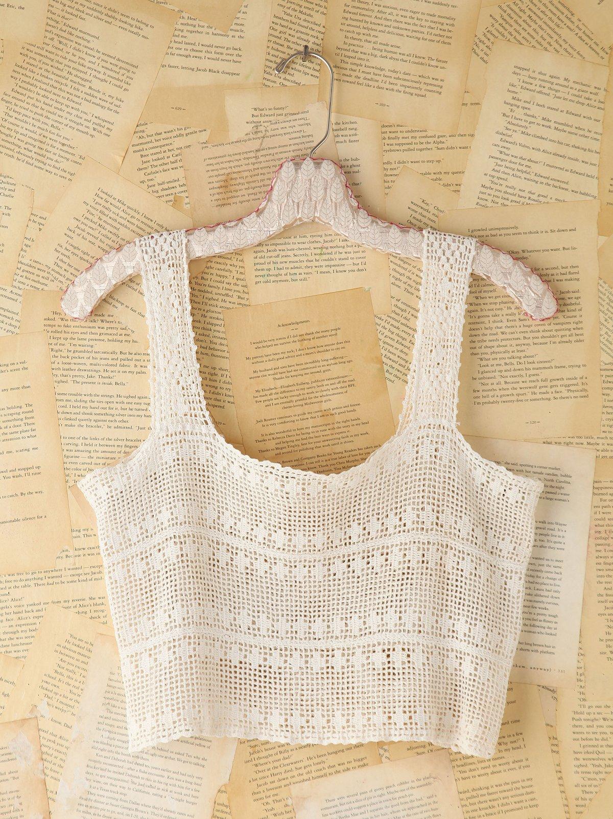 Vintage Open Crochet Tank
