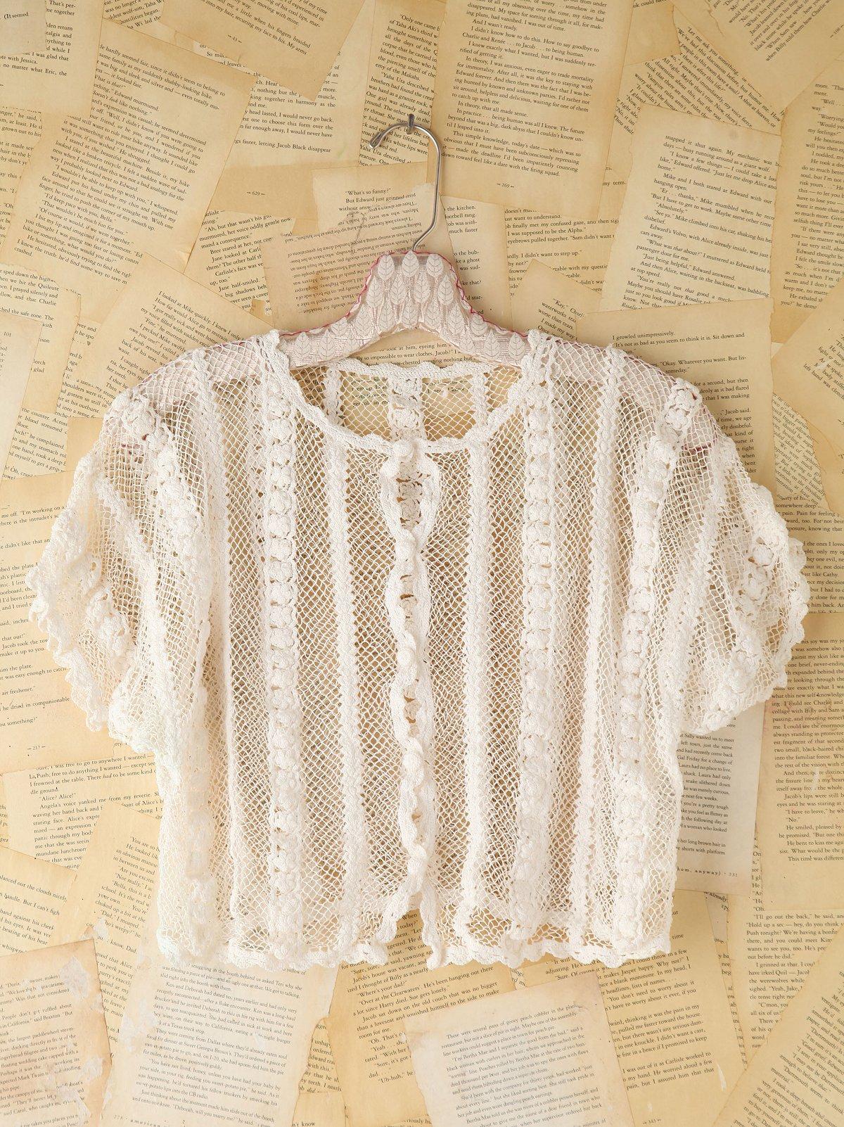 Vintage Floral Crochet Top