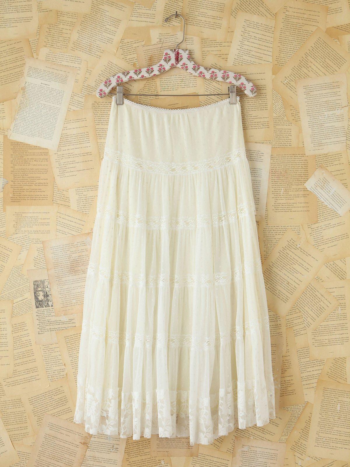 Vintage Sheer Dotted Mesh Skirt
