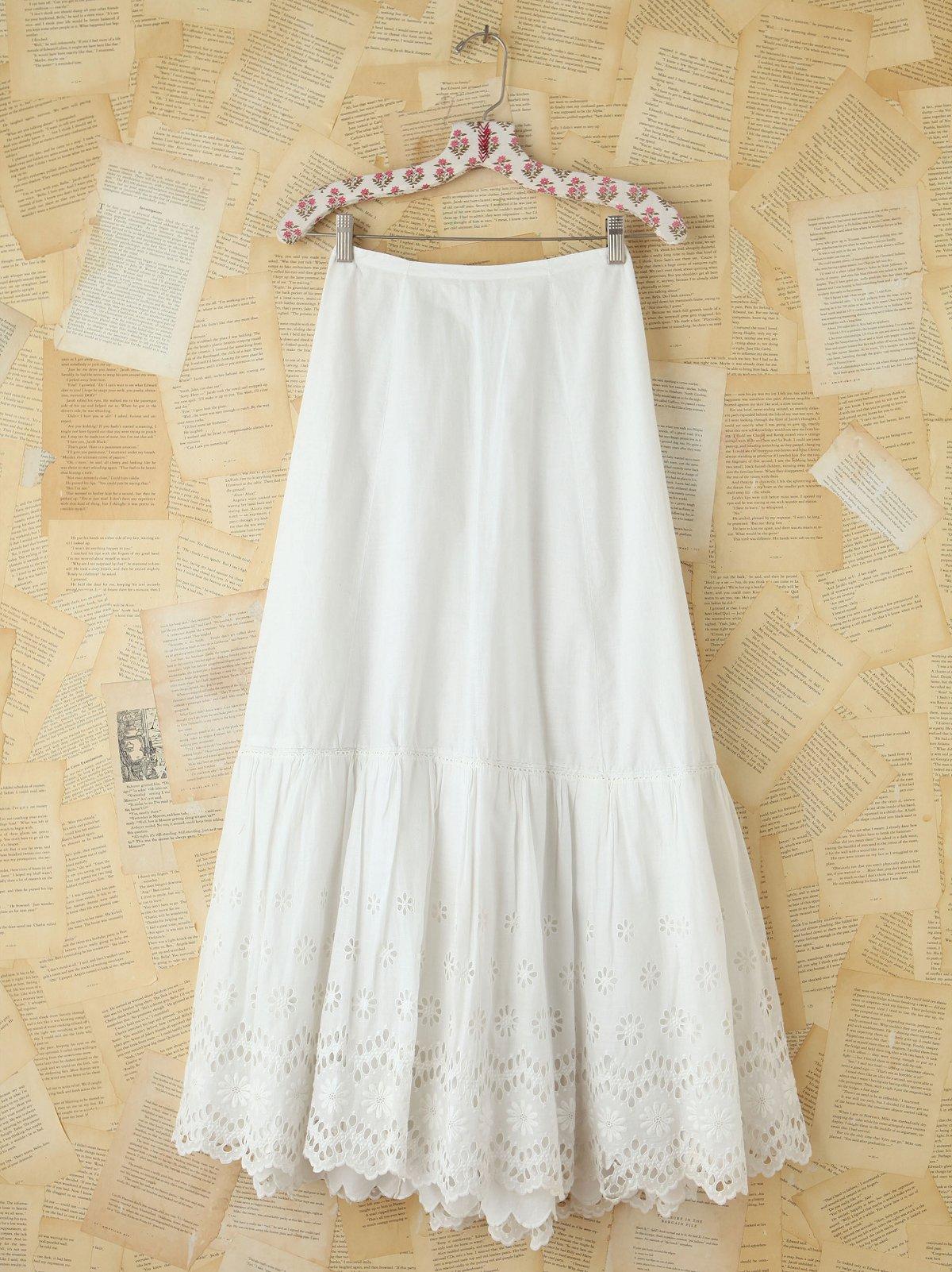 Vintage Cotton Eyelet Skirt
