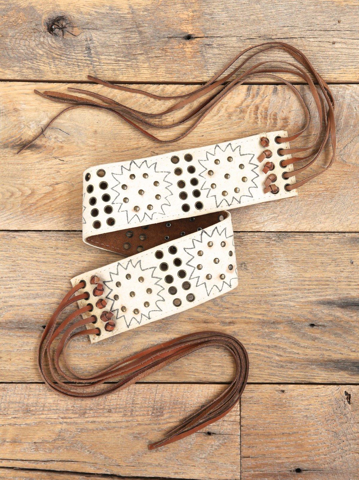 Vintage Studded Fringe Waist Belt