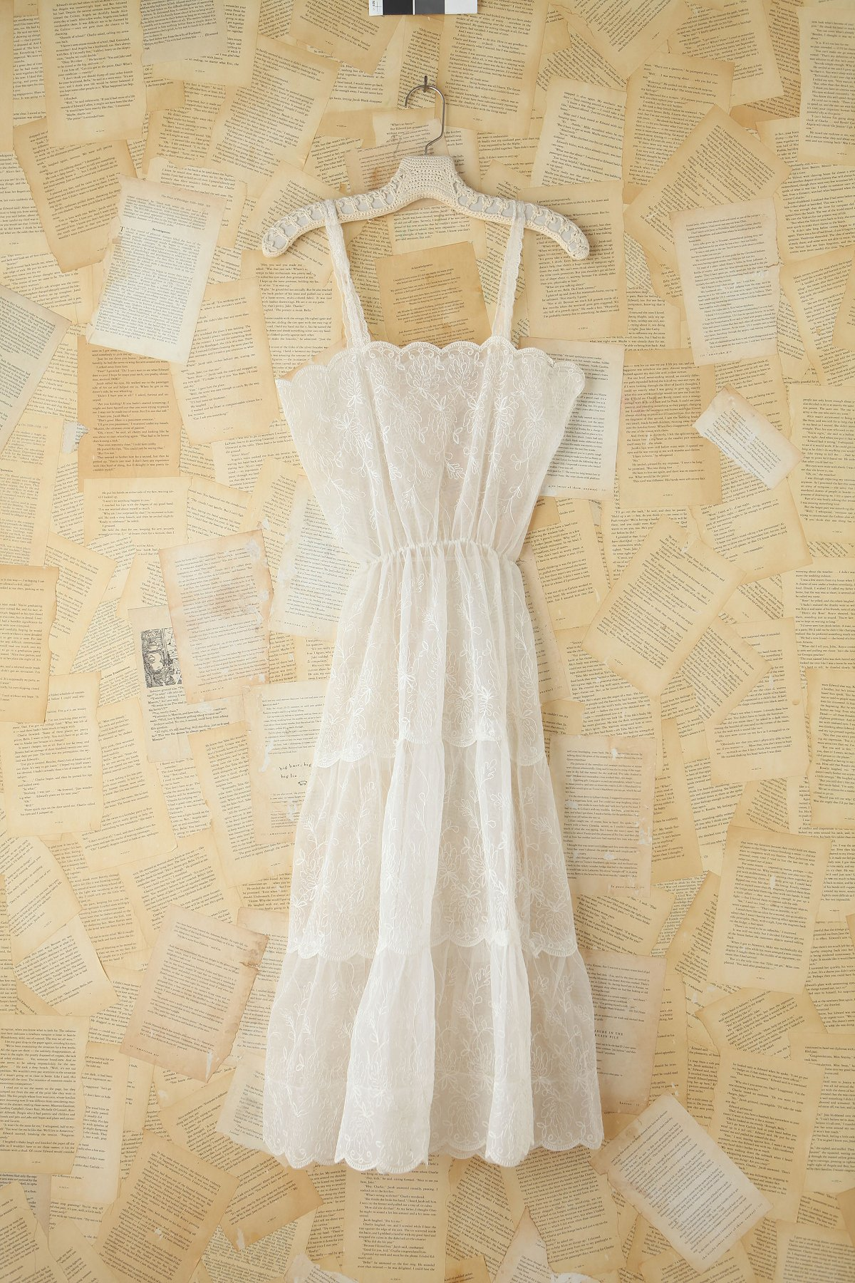 Vintage Cotton and Crochet Maxi Dress