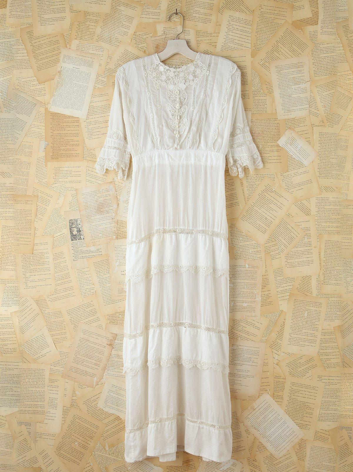 Vintage Sheer Embroidered Dress