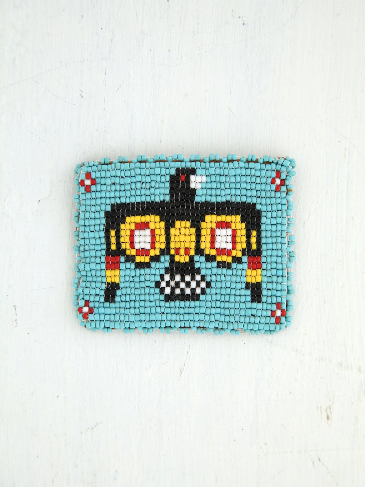 Vintage Beaded Mini Coin Pouch