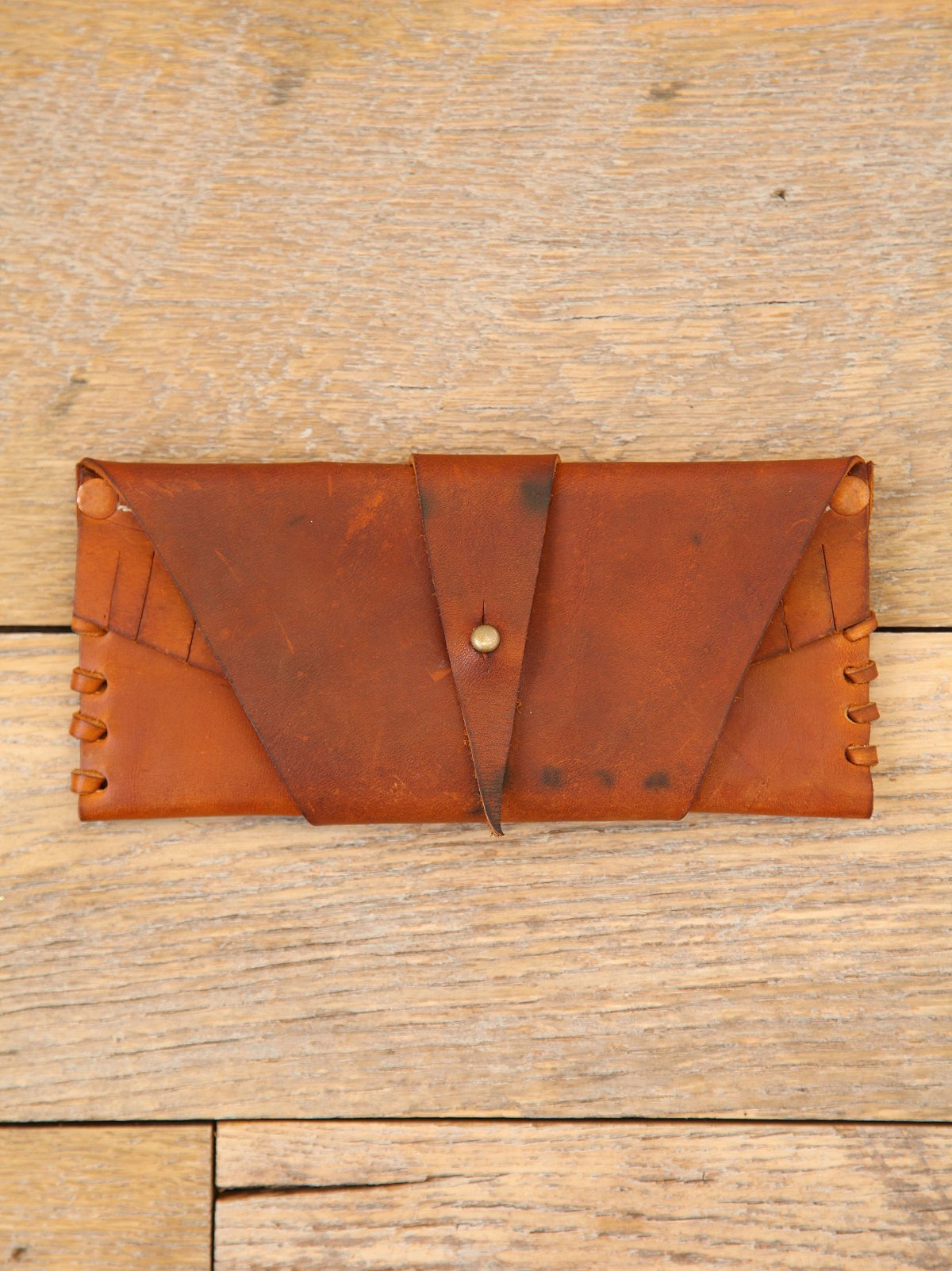 Vintage Leather Wraparound Wallet