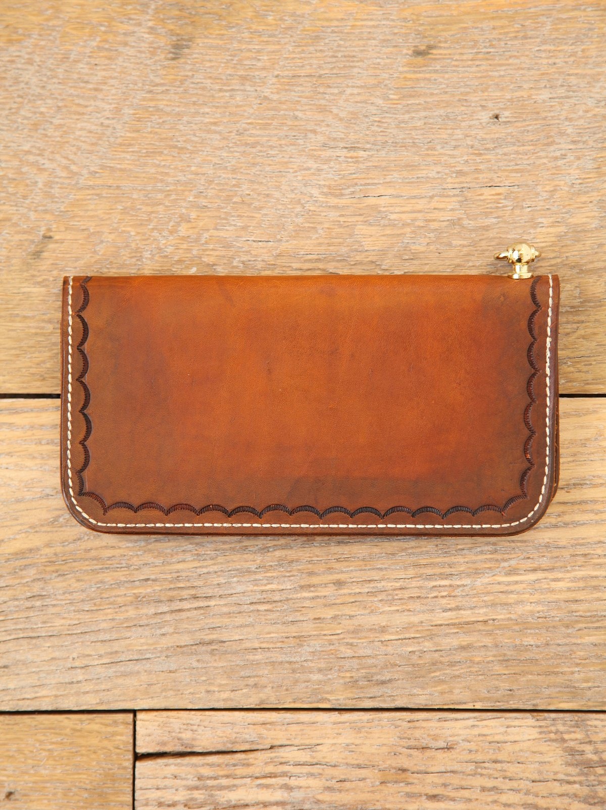 Vintage Etched Leather Wallet