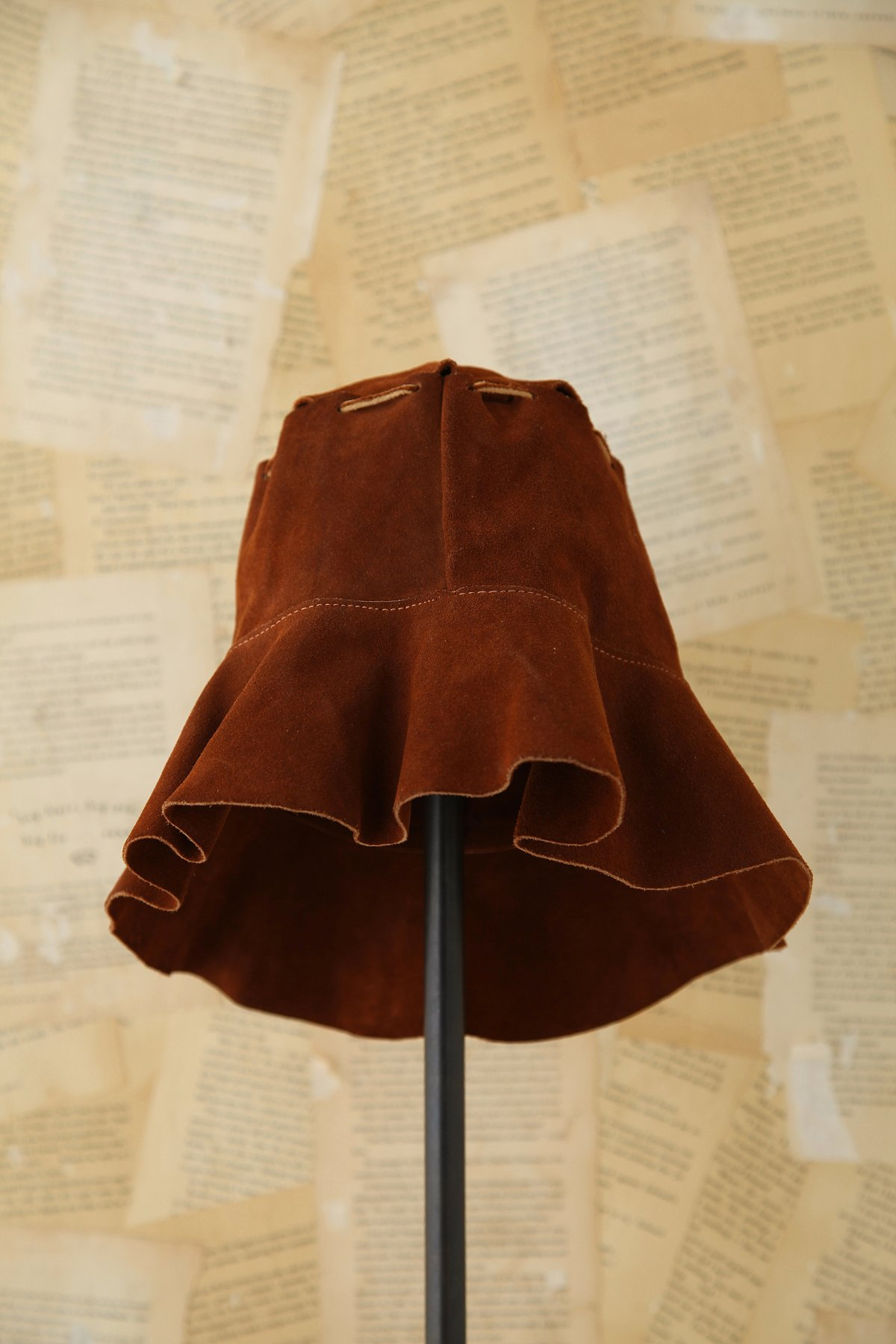 Vintage 1970s Suede Bucket Hat