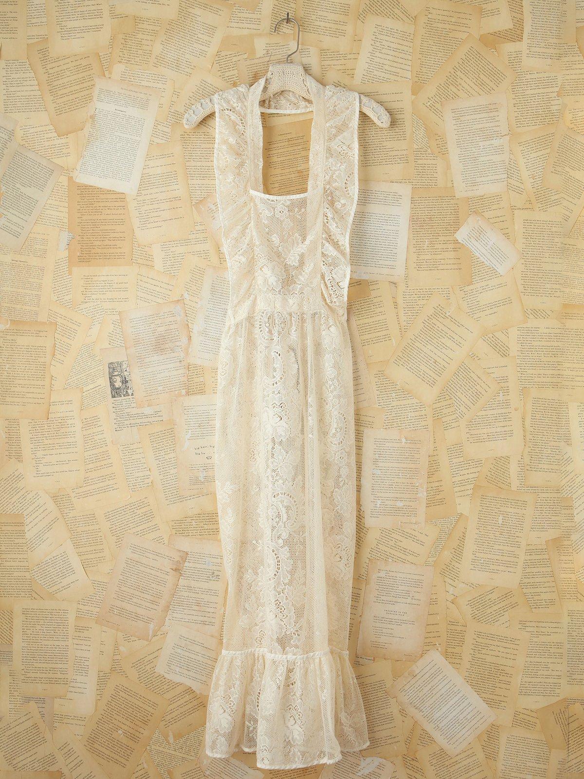 Vintage Sheer Lace Apron
