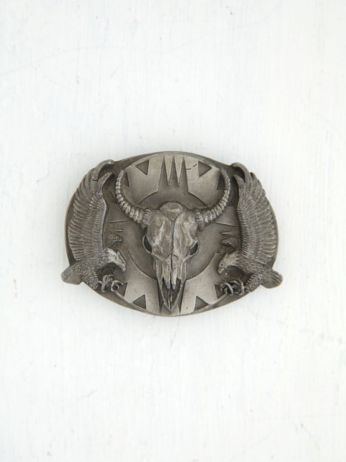 Vintage Buffalo and Eagle Belt Buckle