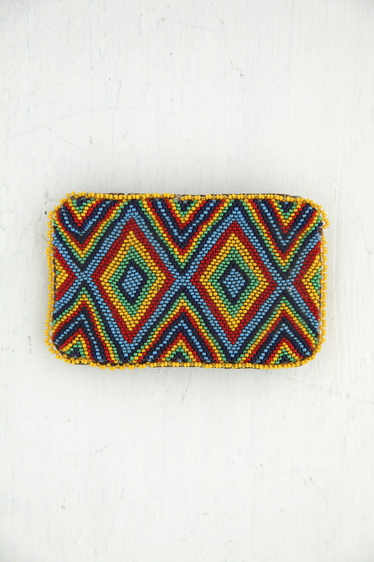 Vintage Multicolor Beaded Belt Buckle
