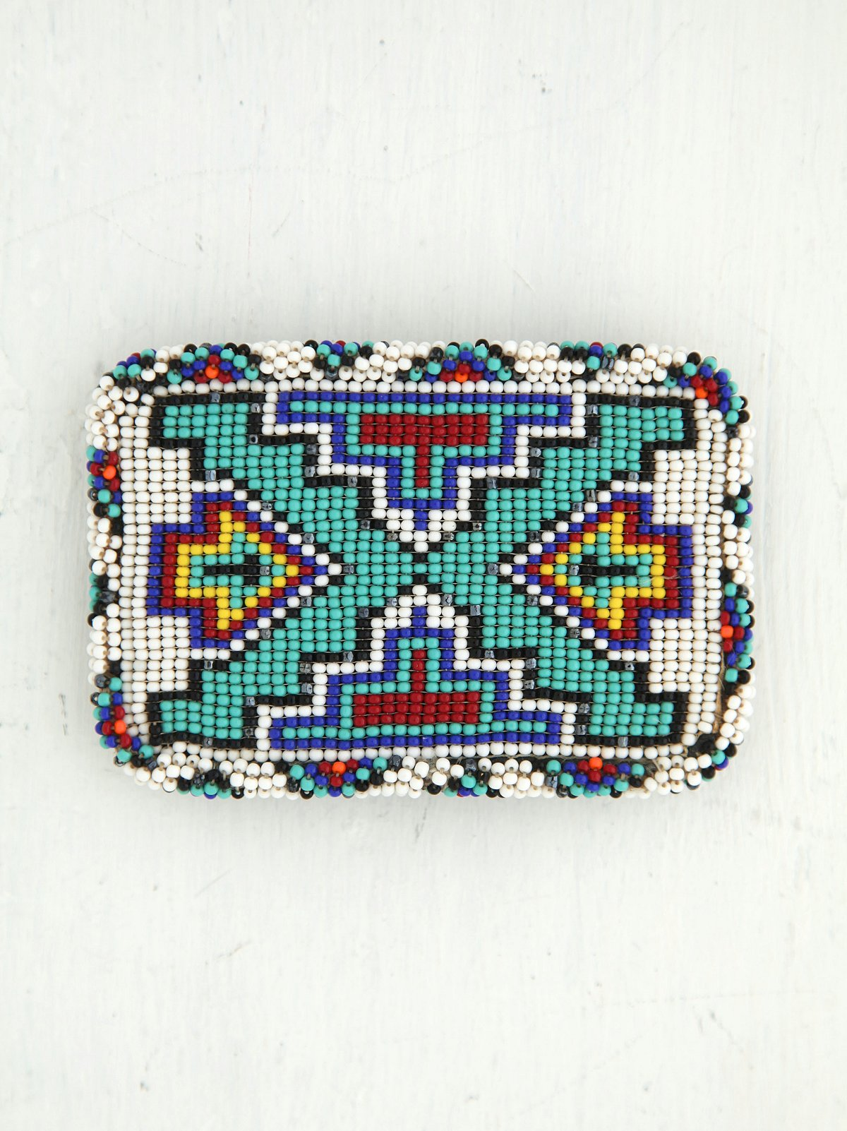 Vintage Beaded Belt Buckle