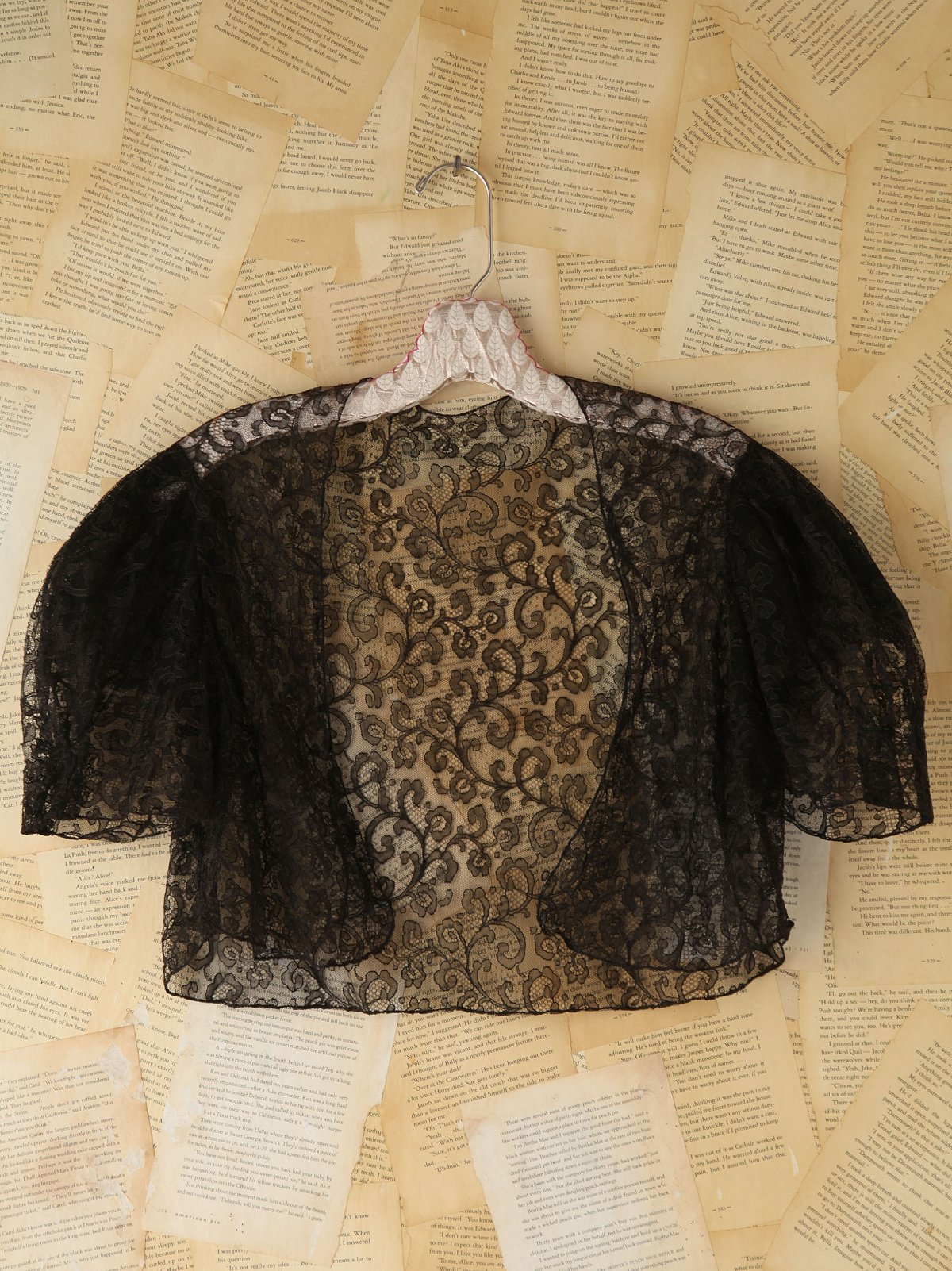 Vintage Black Lace Shrug
