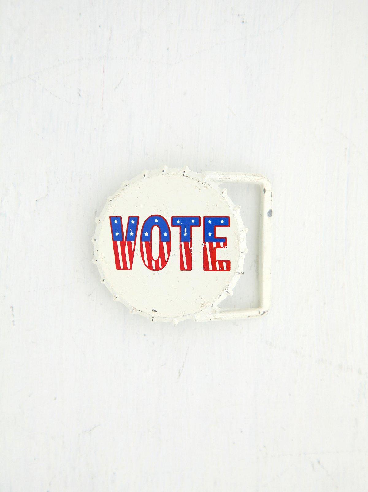 Vintage Vote Belt Buckle