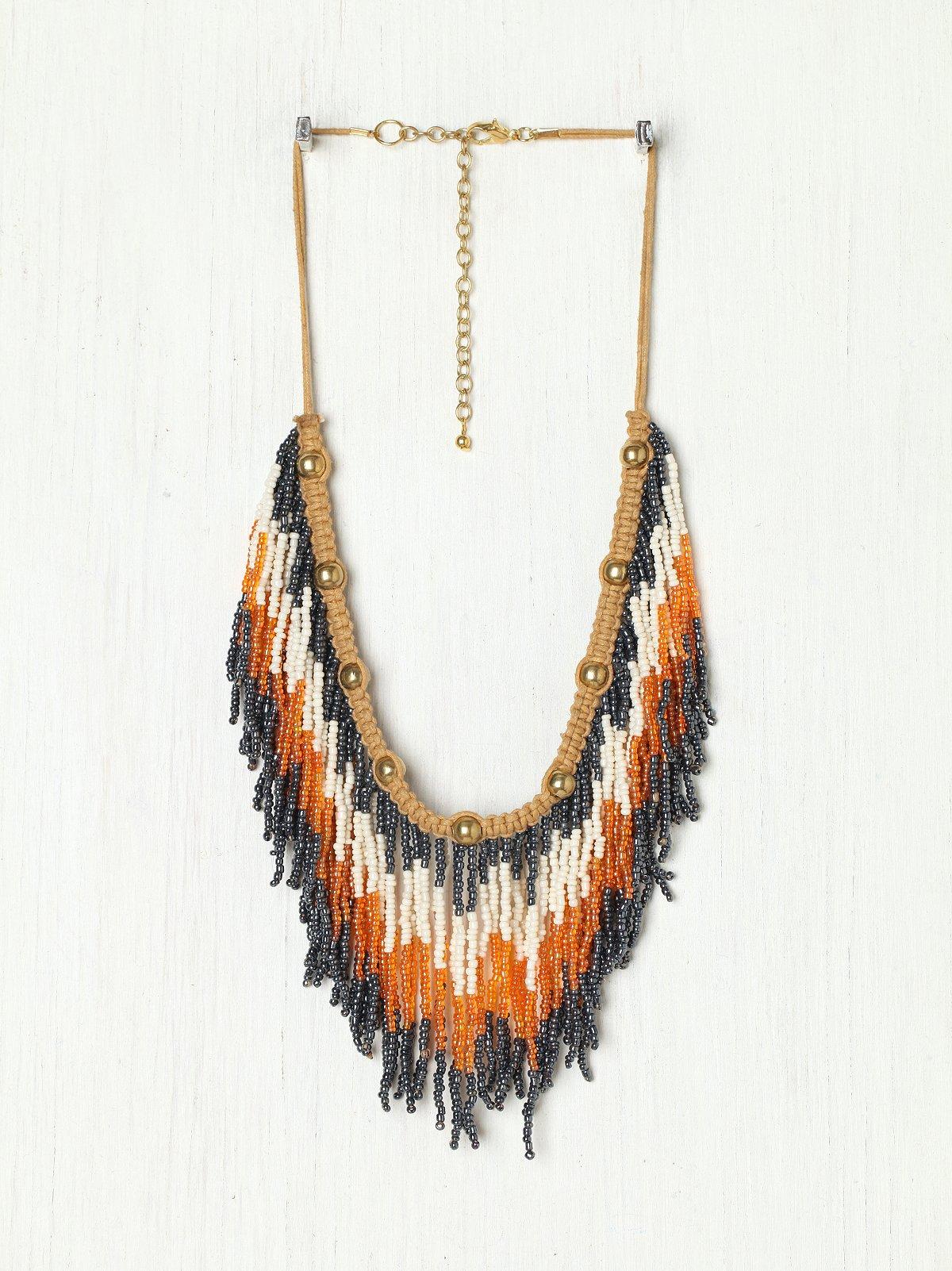Ombre Fringe Collar