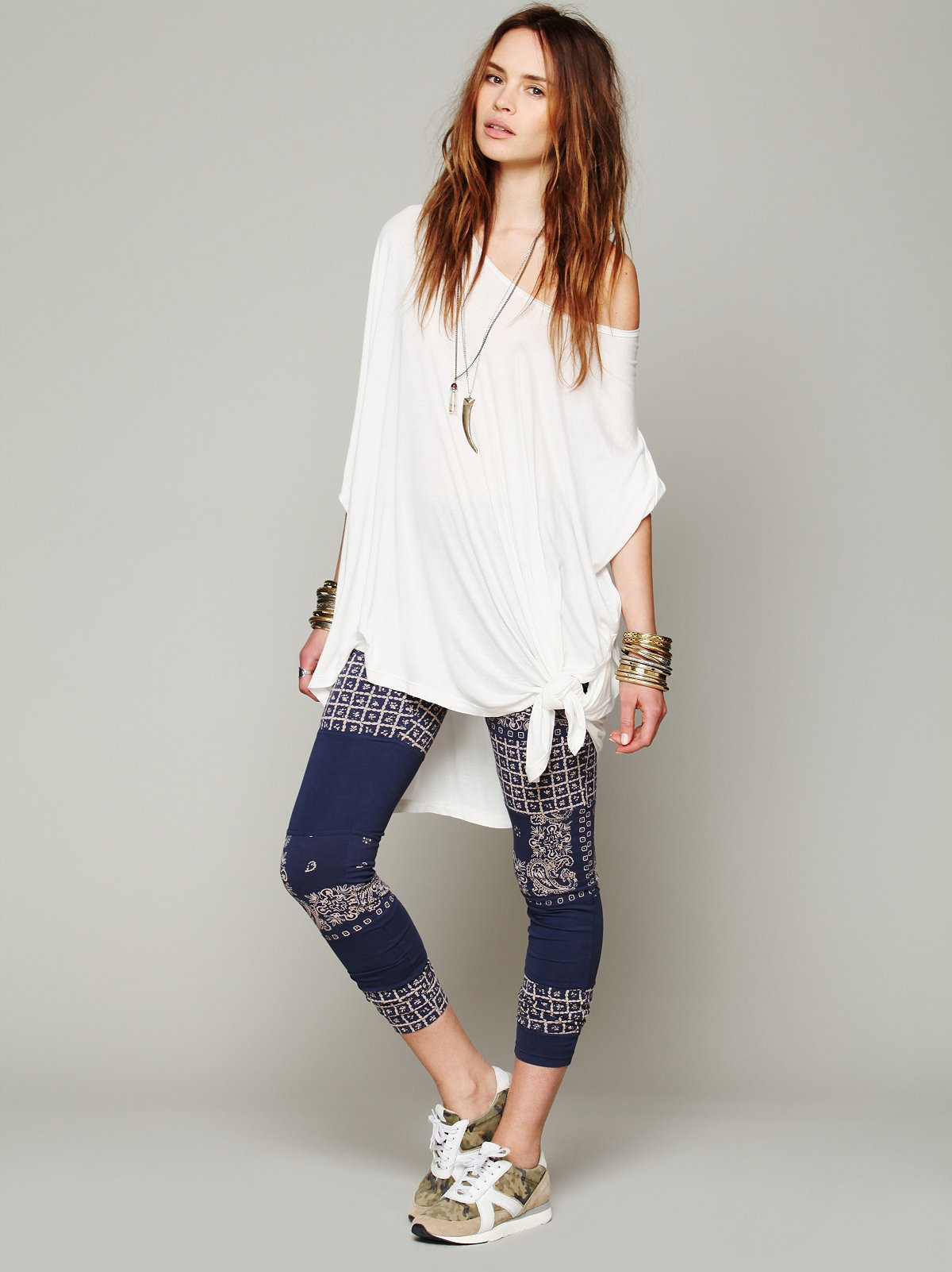 Patchwork Knit Legging
