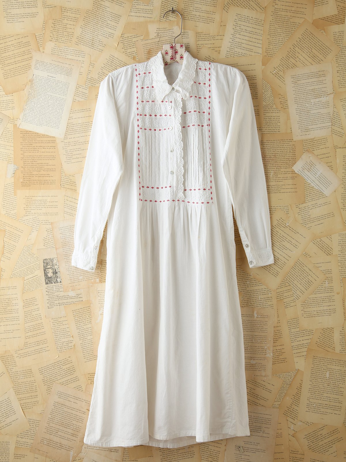 Vintage Collared Cotton Shirtdress