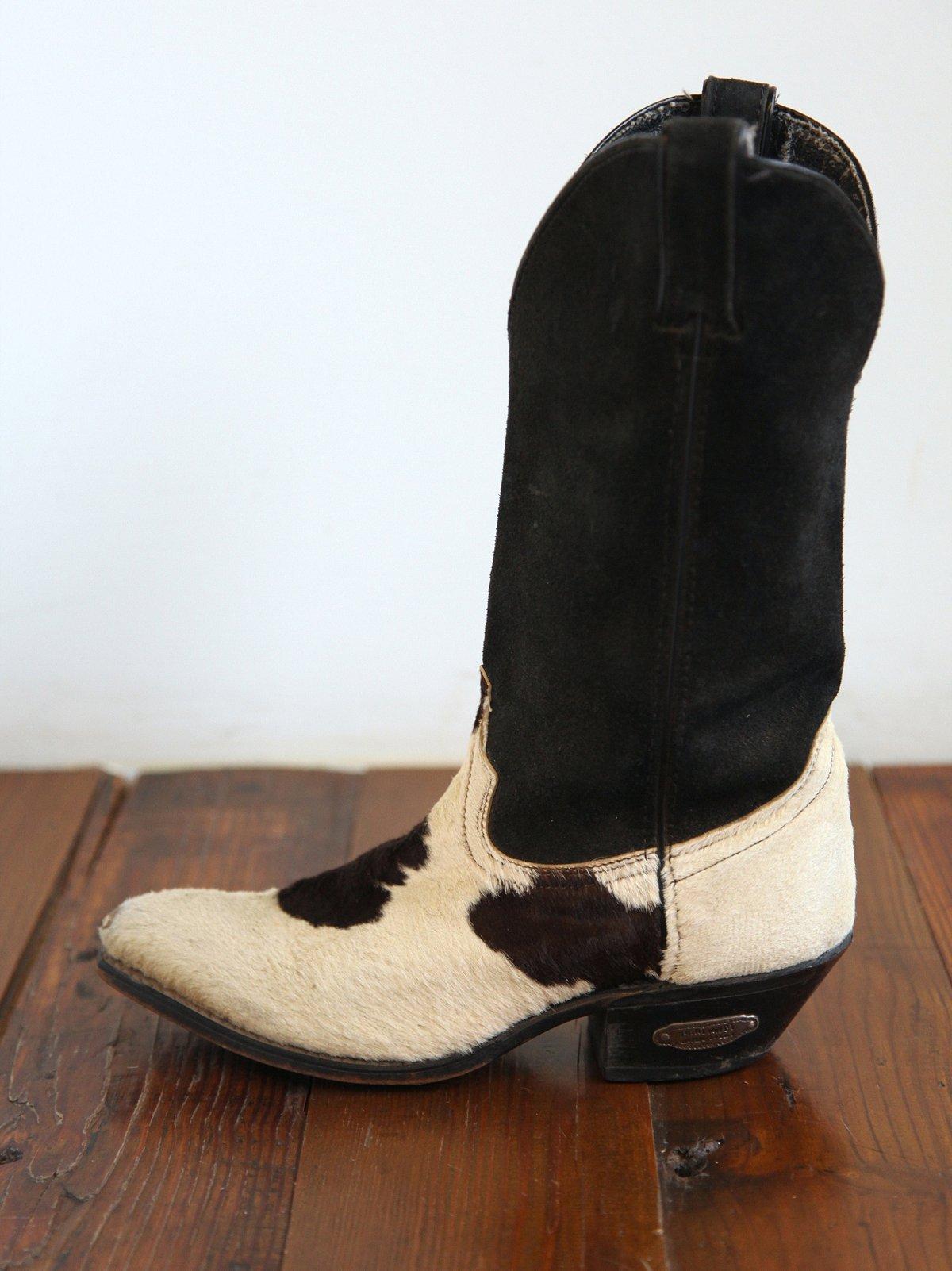Vintage Cow Hide Boots
