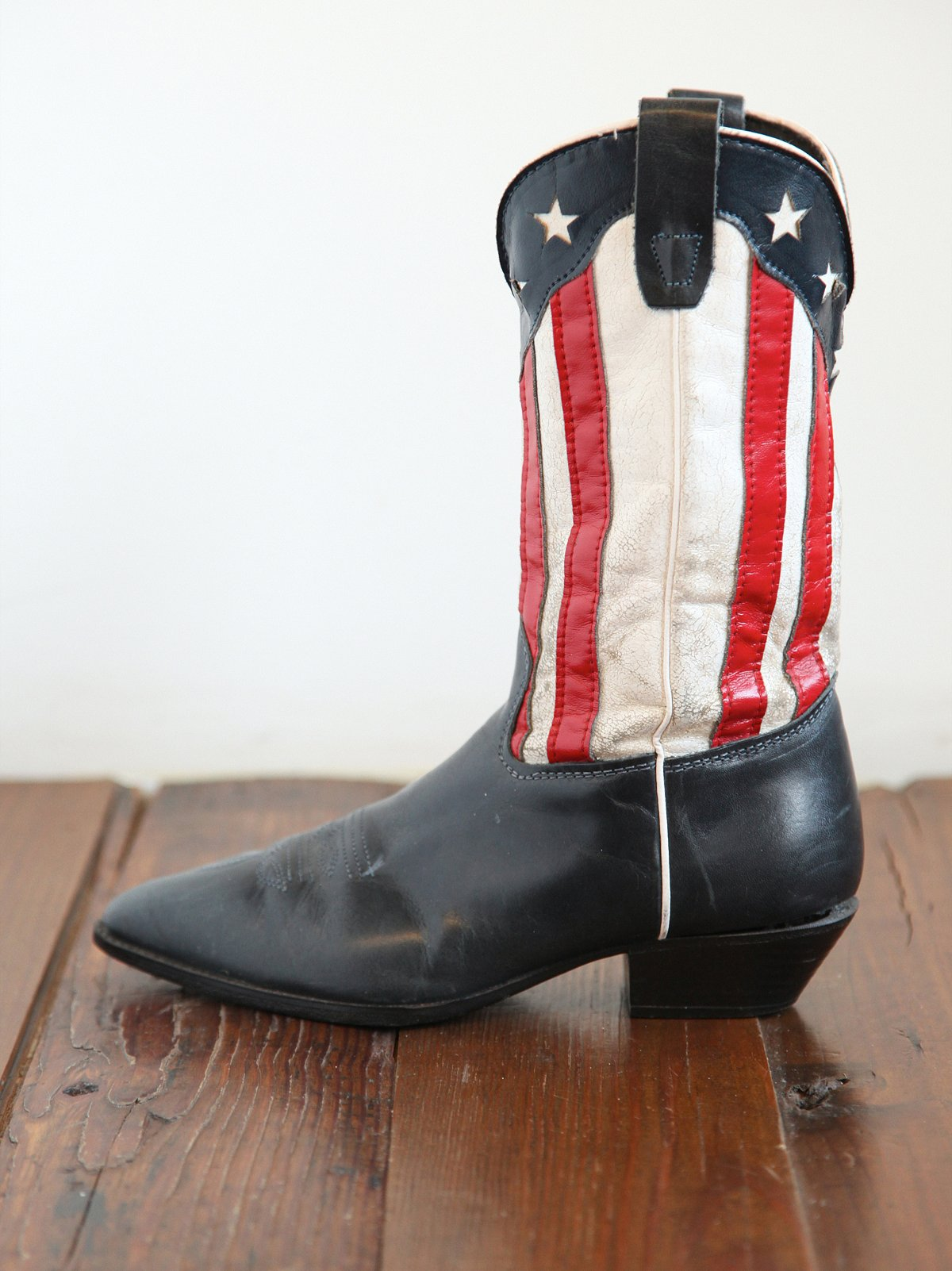 Vintage American Flag Cowboy Boots