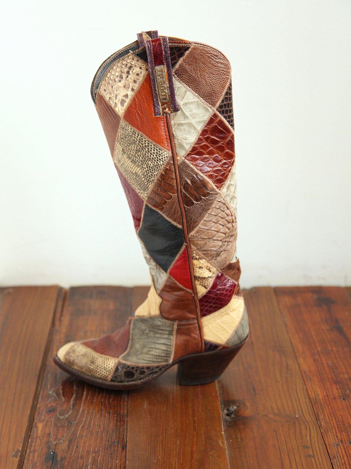 Vintage Multi Snakeskin Cowboy Boot