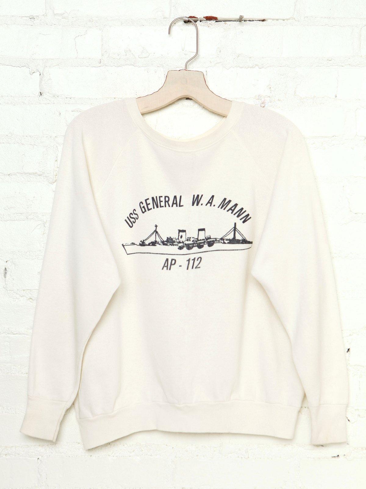 Vintage USS General W.A. Mann Sweatshirt