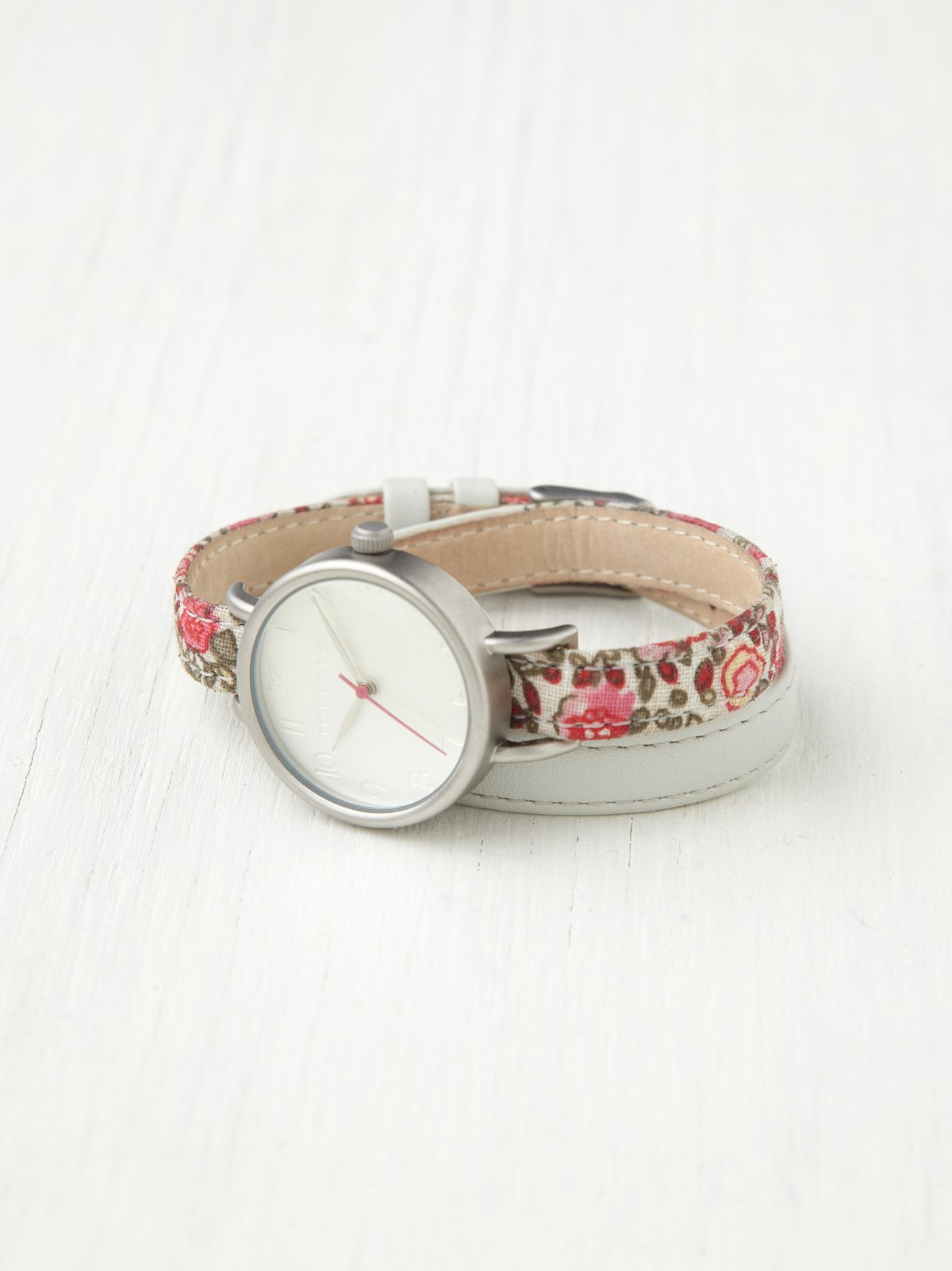 Petal Print Wrap Watch