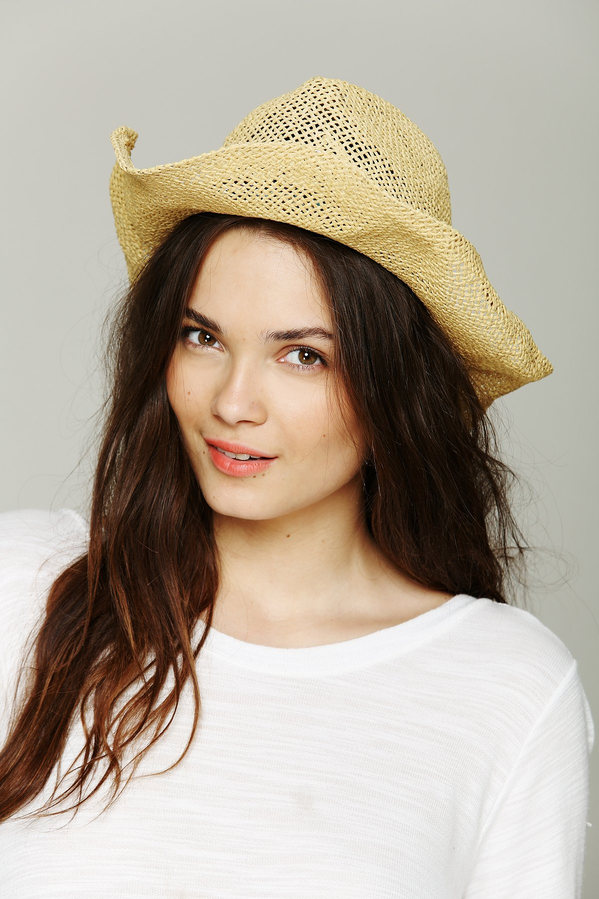 Open Weave Straw Cowboy Hat