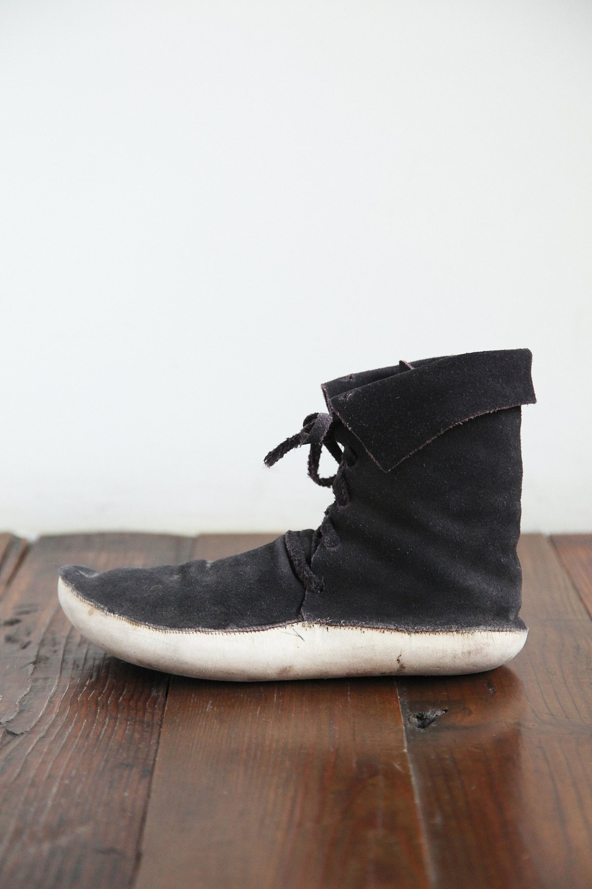 Vintage Suede Moccasin Ankle Boot