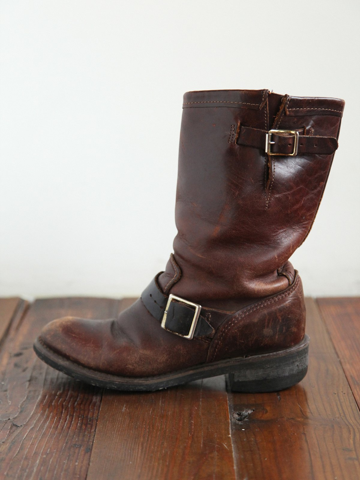 Vintage Rugged Leather Boots