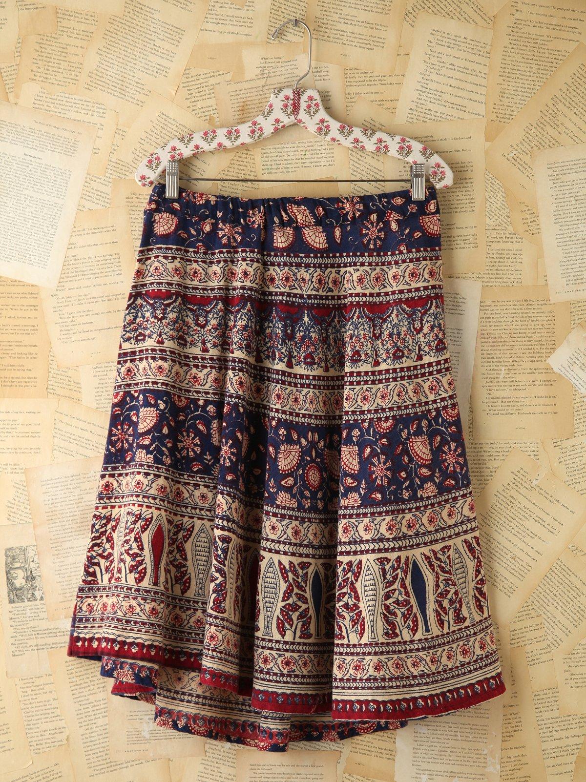 Vintage Printed Skirt