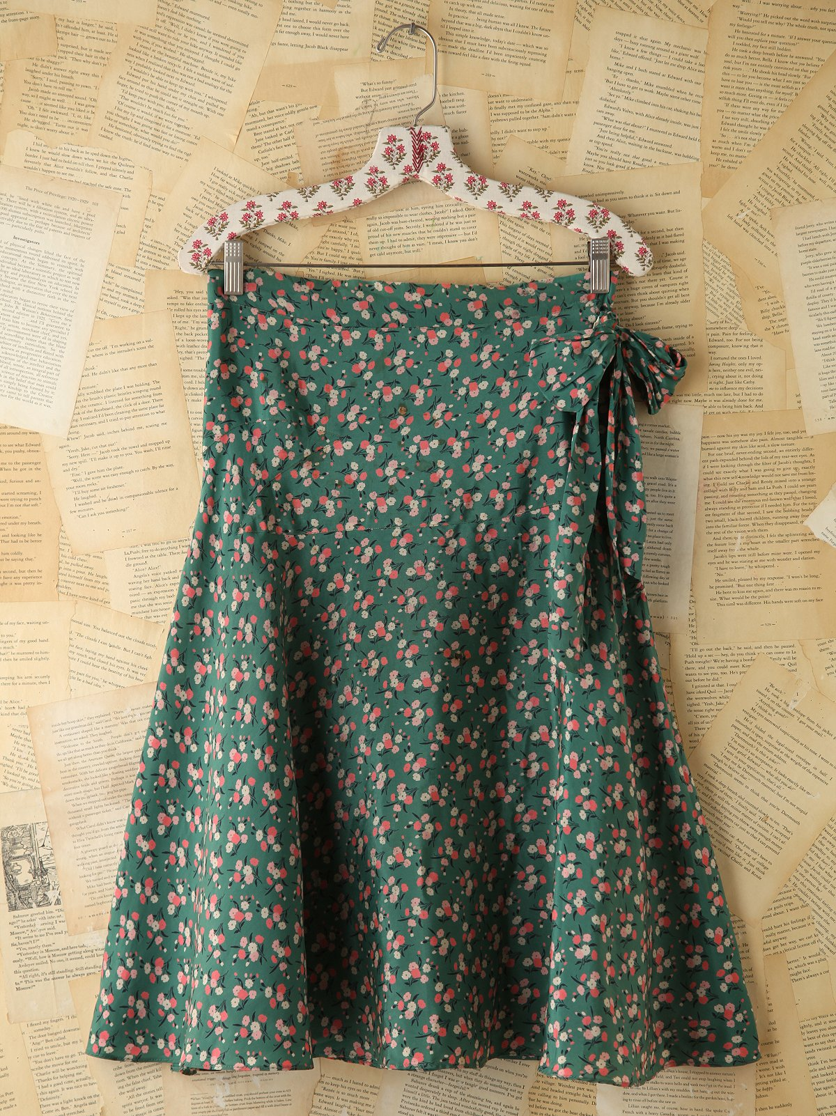 Vintage Floral Printed Skirt
